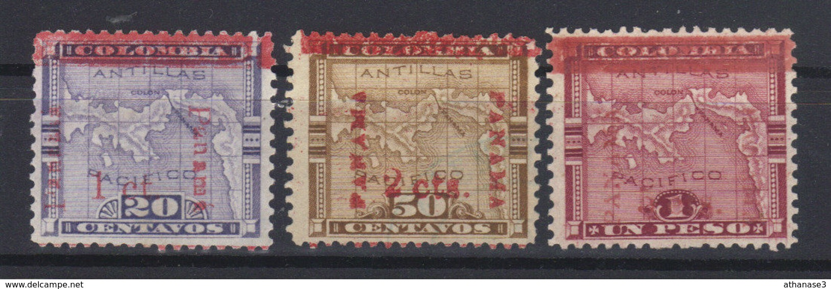 PANAMA  N°s 81*,84*,85* (1906) - Panama