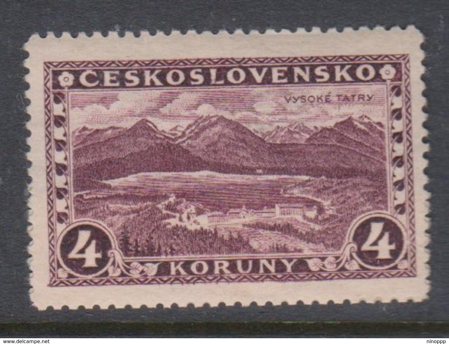Czechoslovakia SG 276 1927 Great Tatra,4k Purple ,mint Never Hinged - Used Stamps