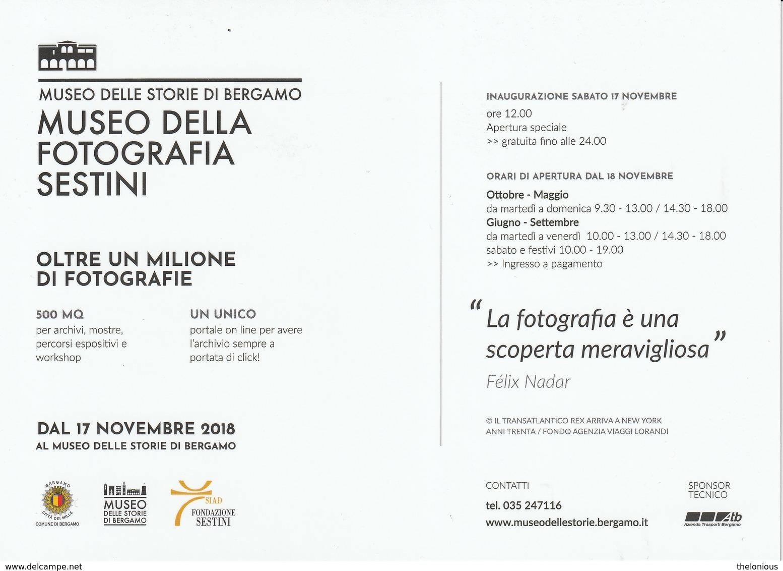 # Museo Della Fotografia Sestini, Cartolina Pubblicitaria Della Mostra, Bergamo - Museos