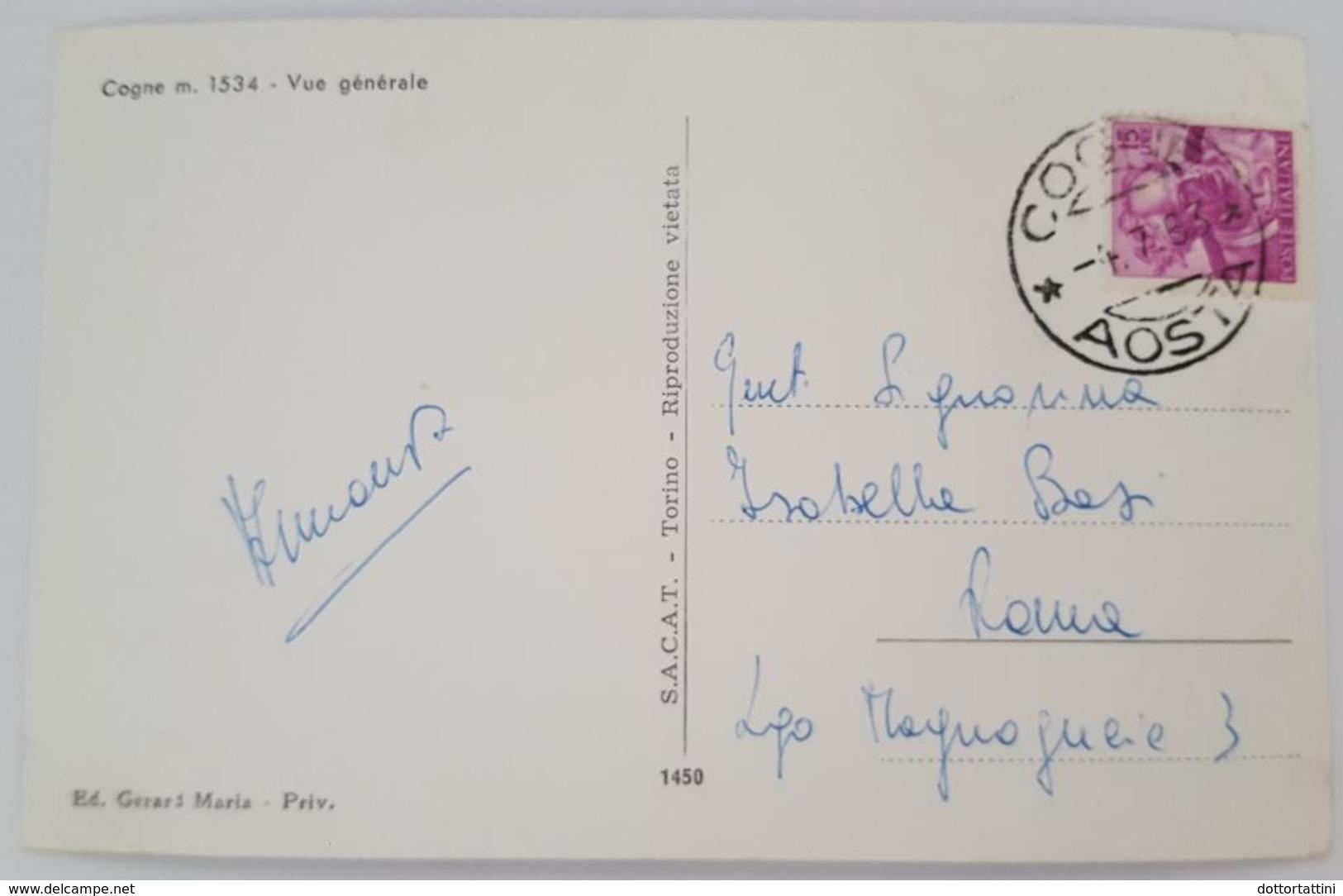 COGNE - PANORAMA  -Vue Generale - Vg 1963 - Italia