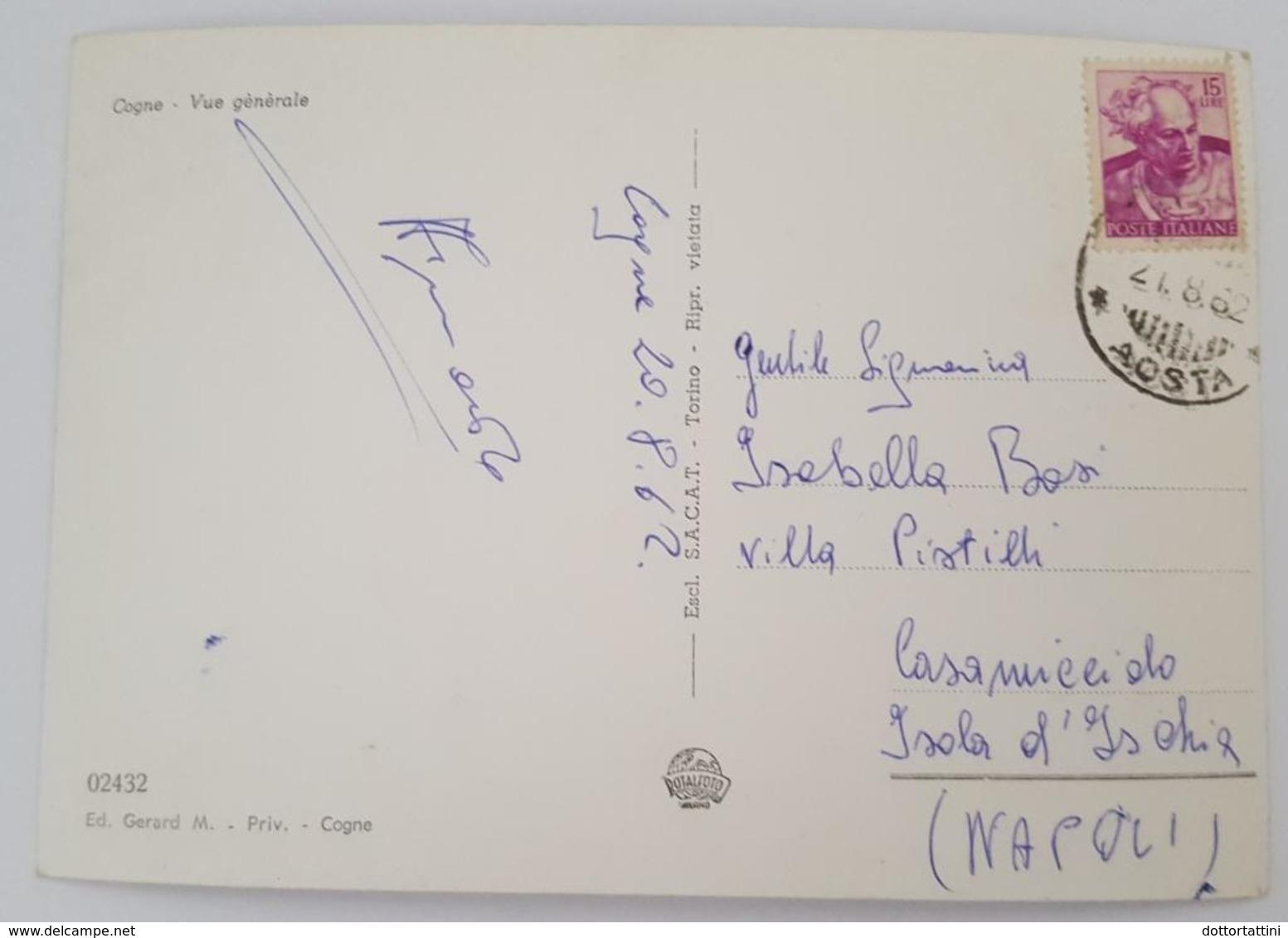 COGNE - PANORAMA  -Vue Generale - Vg 1962 - Altre Città