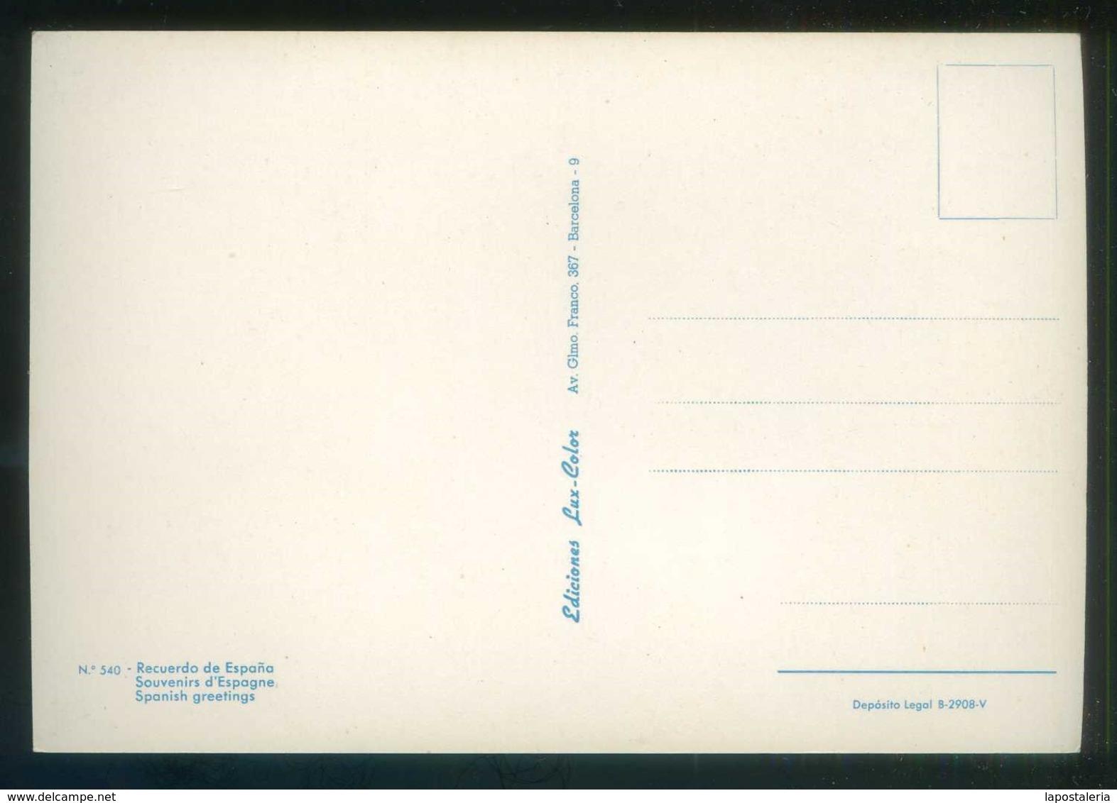 *Recuerdo De España* Ed. Lux-Color Nº 540. Dep. Legal B. 2908-V. Nueva. - Mercaderes
