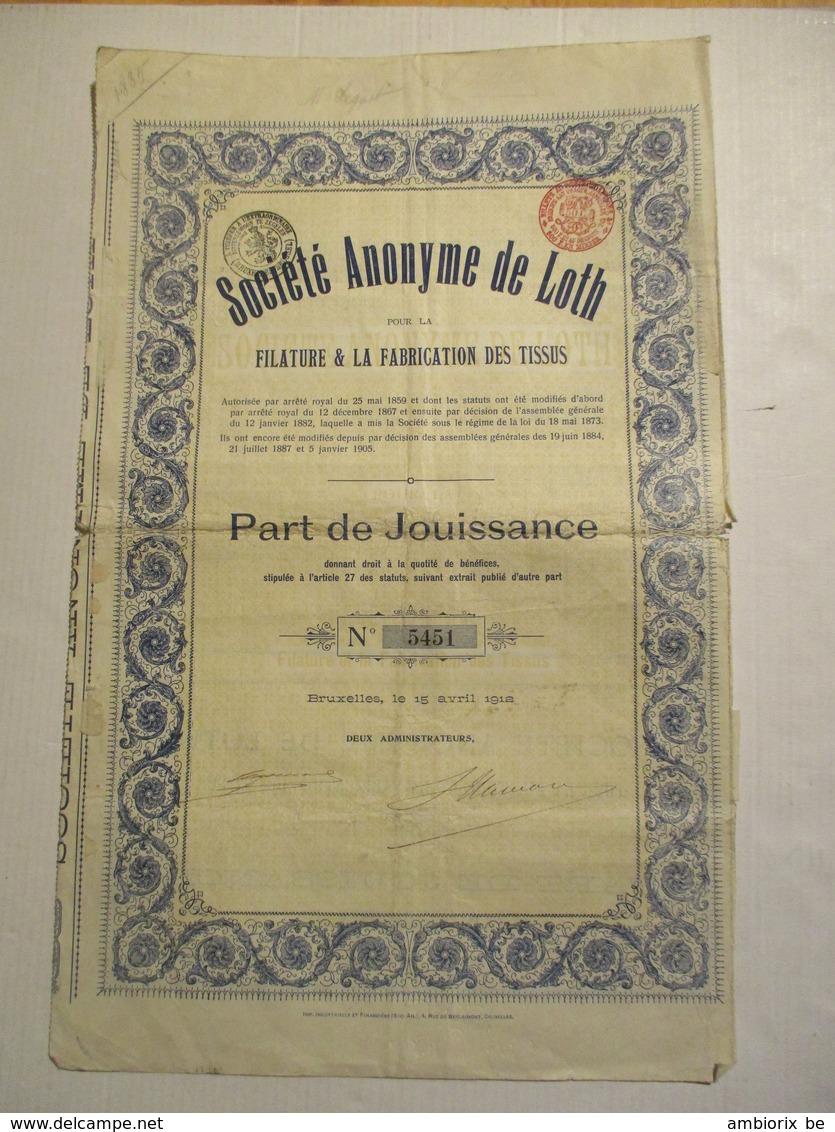 Société Anonyme De Loth - Leeuw Saint Pierre - Textile