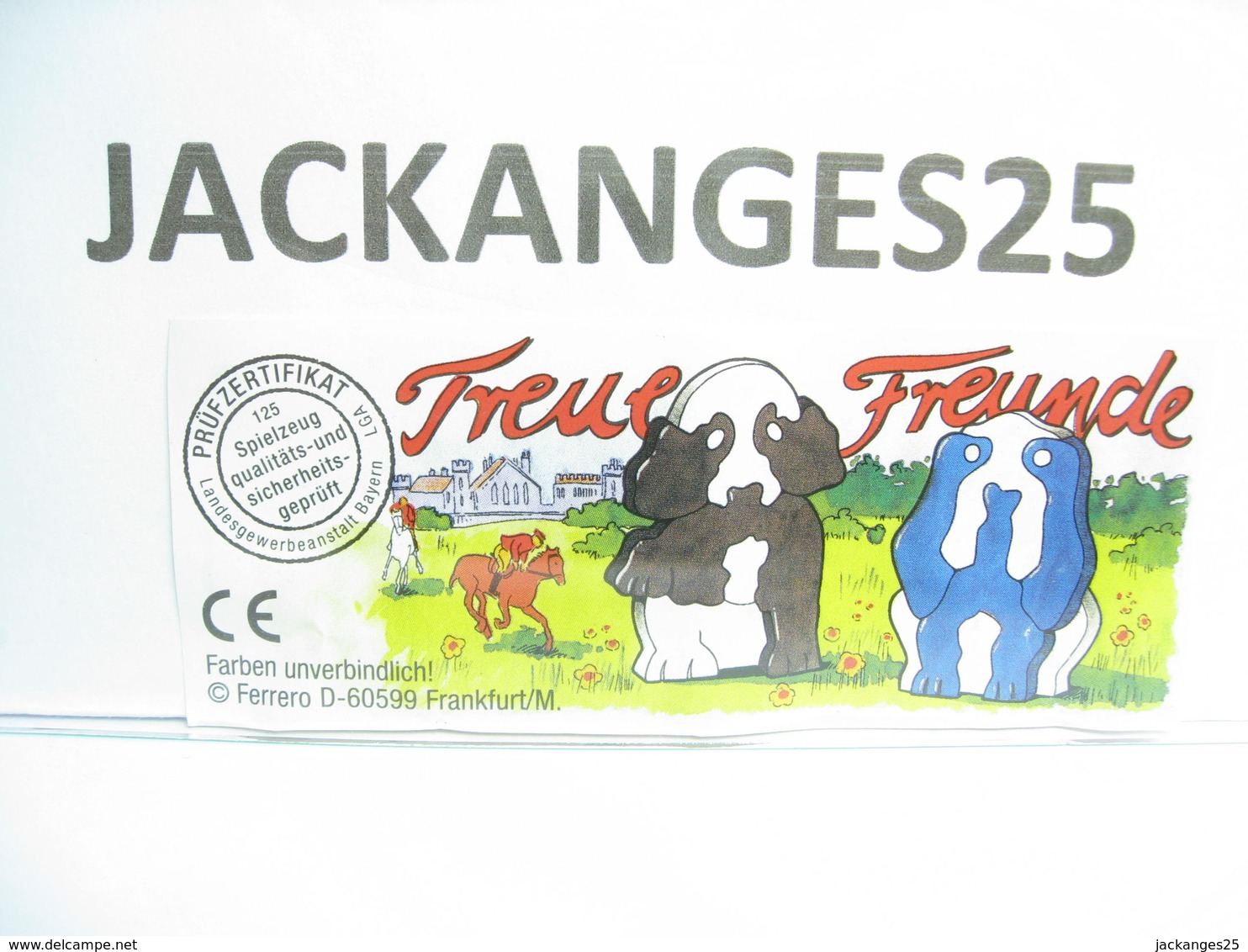 KINDER  ALLEMAND PUZZLE 614017 2000   + BPZ - Puzzles