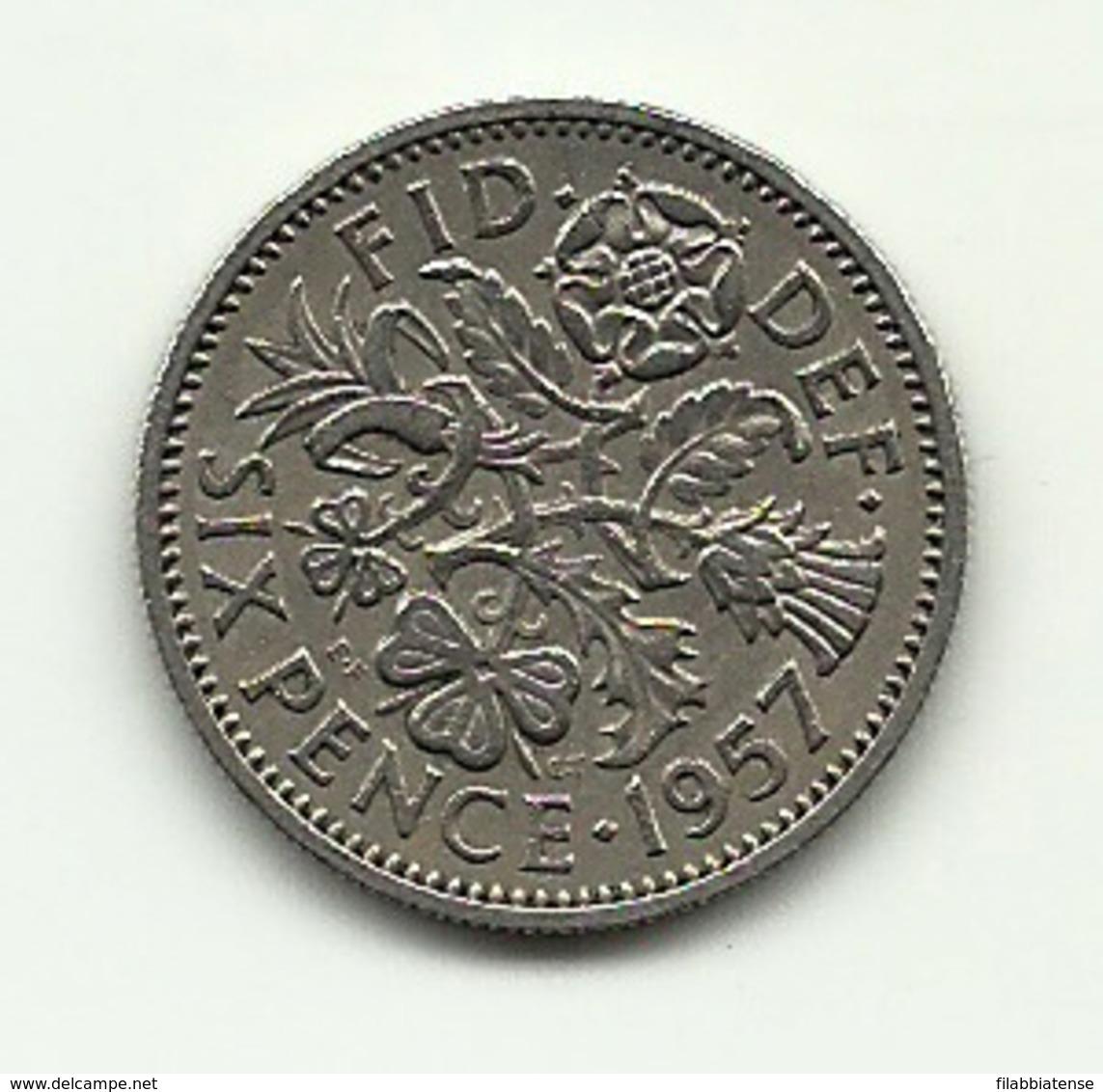 1957 - Gran Bretagna 6 Pence - Altri