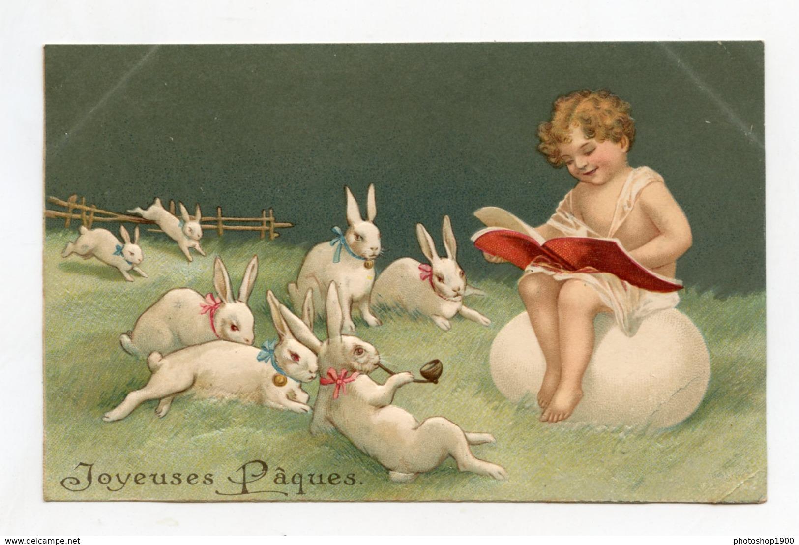 Joyeuses Pâques Lapin Qui Fume  . Easter  Rabbit To Smoke  Ostern Rauchendes Häschen - Pâques