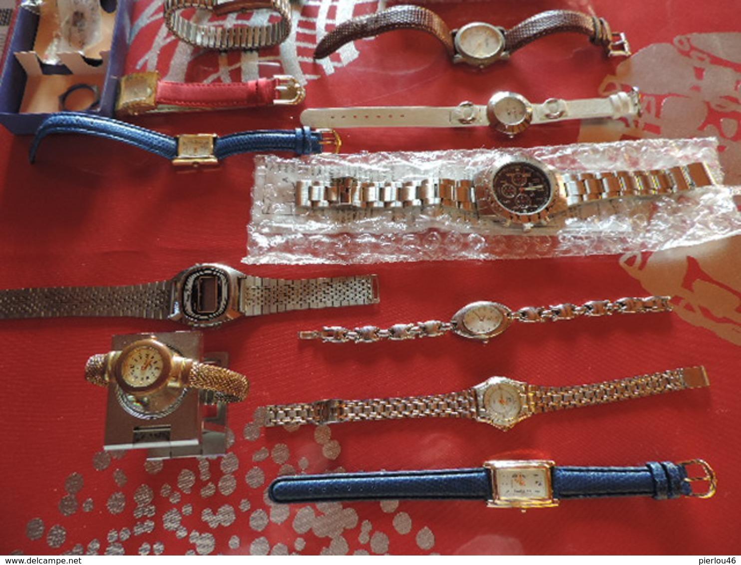 LOT DE 21 MONTRES NEUVES ET ANCIENNES - Bijoux & Horlogerie