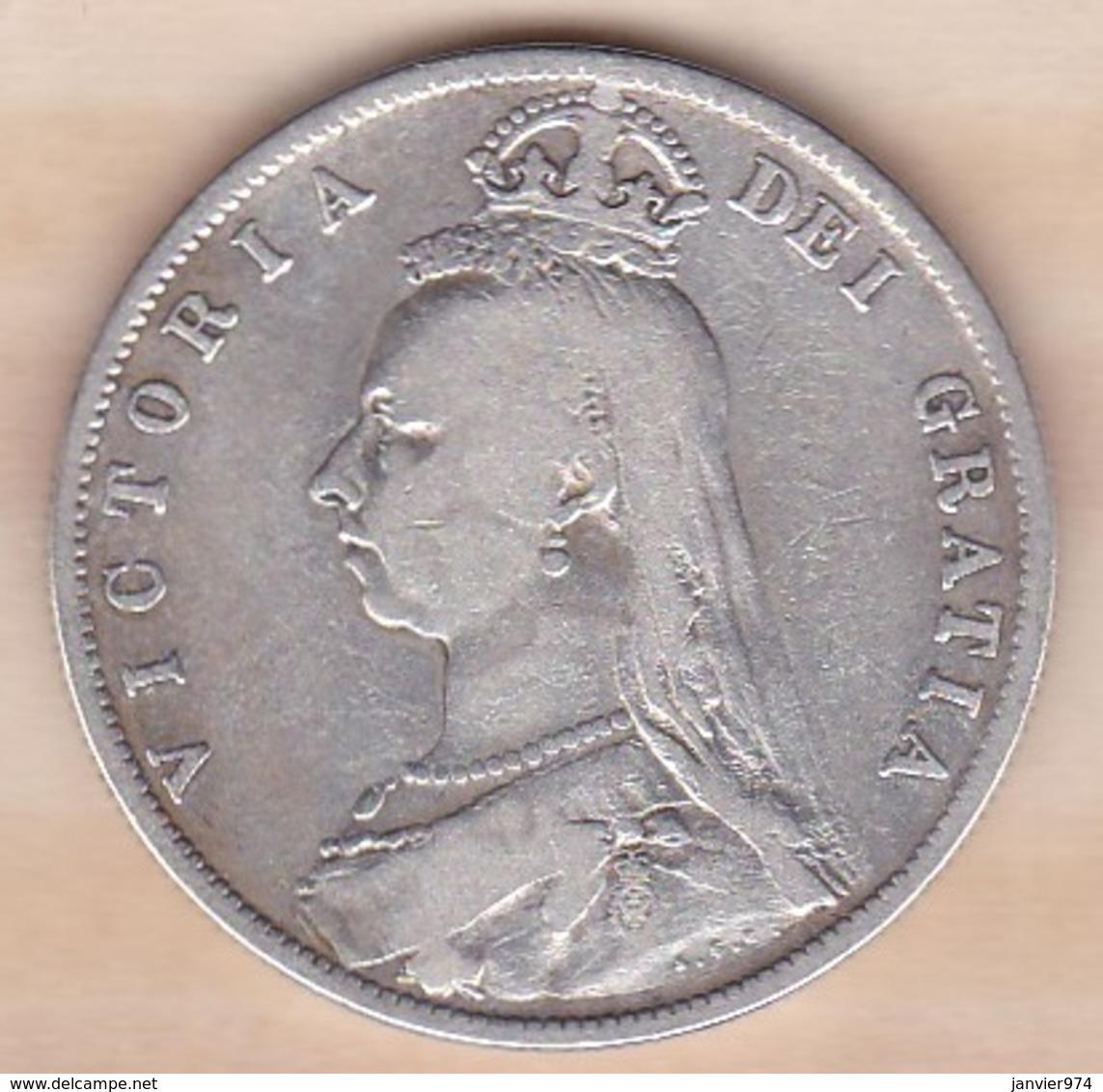 Grande-Bretagne Half Crown 1887  Victoria , En Argent - K. 1/2 Crown