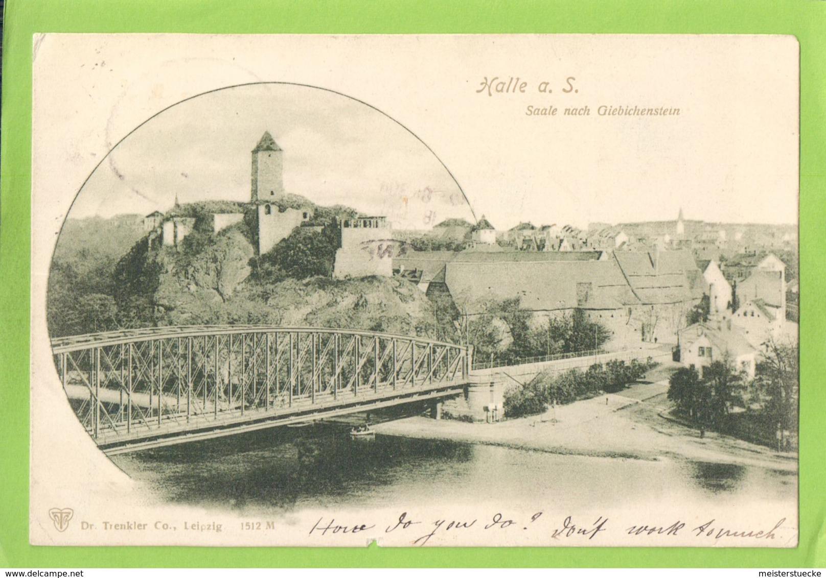 AK - Halle An Der Saale - Salale Nach Giebichenstein - Gelaufen Mit Bahnpost 1900 - Halle (Saale)
