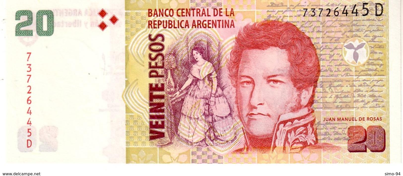 Argentina P.355 20 Pesos 2012  D  Unc - Argentine