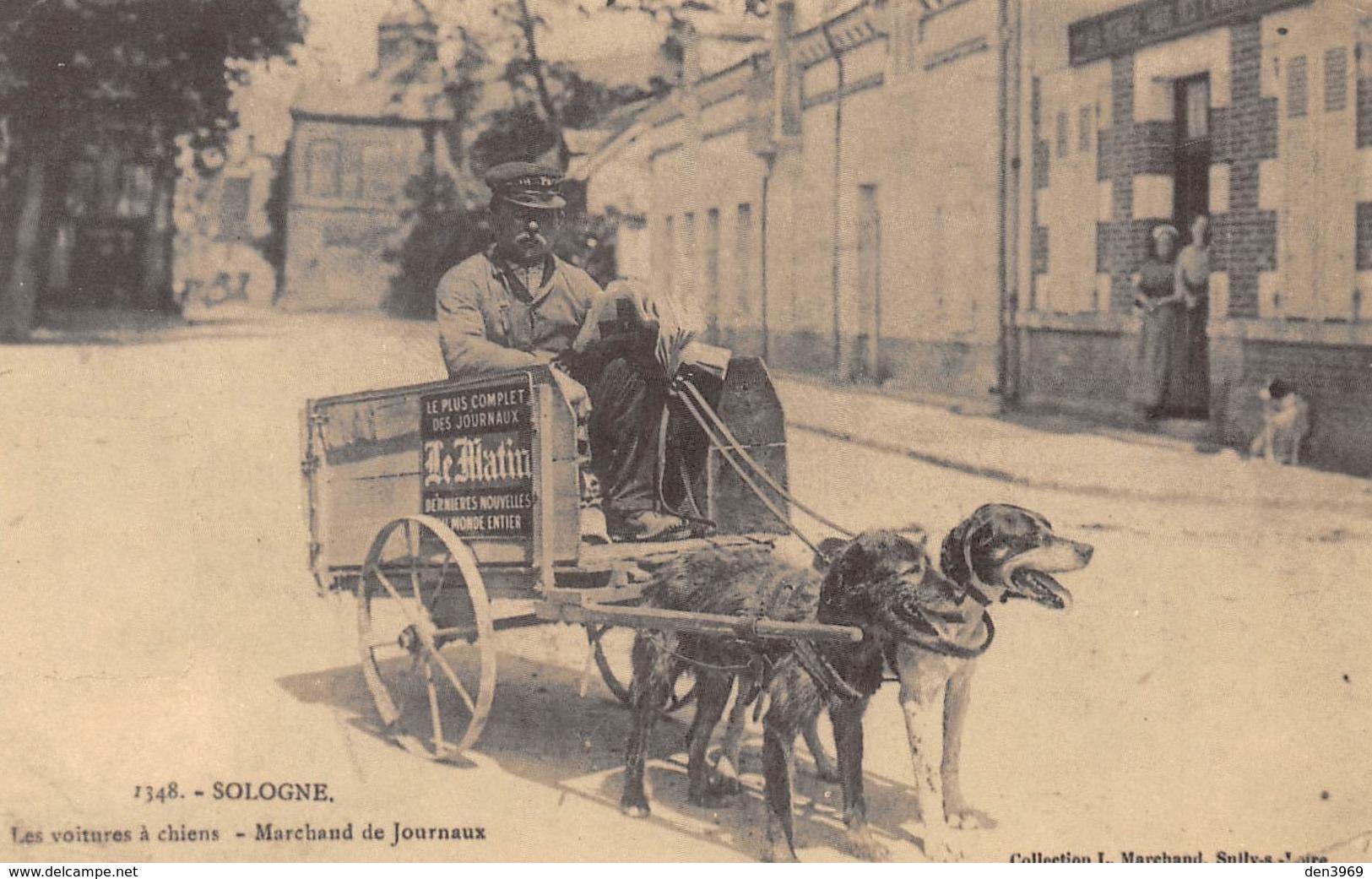 Sologne - Les Voitures à Chiens - Marchand De Journaux - Cecodi N'1257 - Non Classés