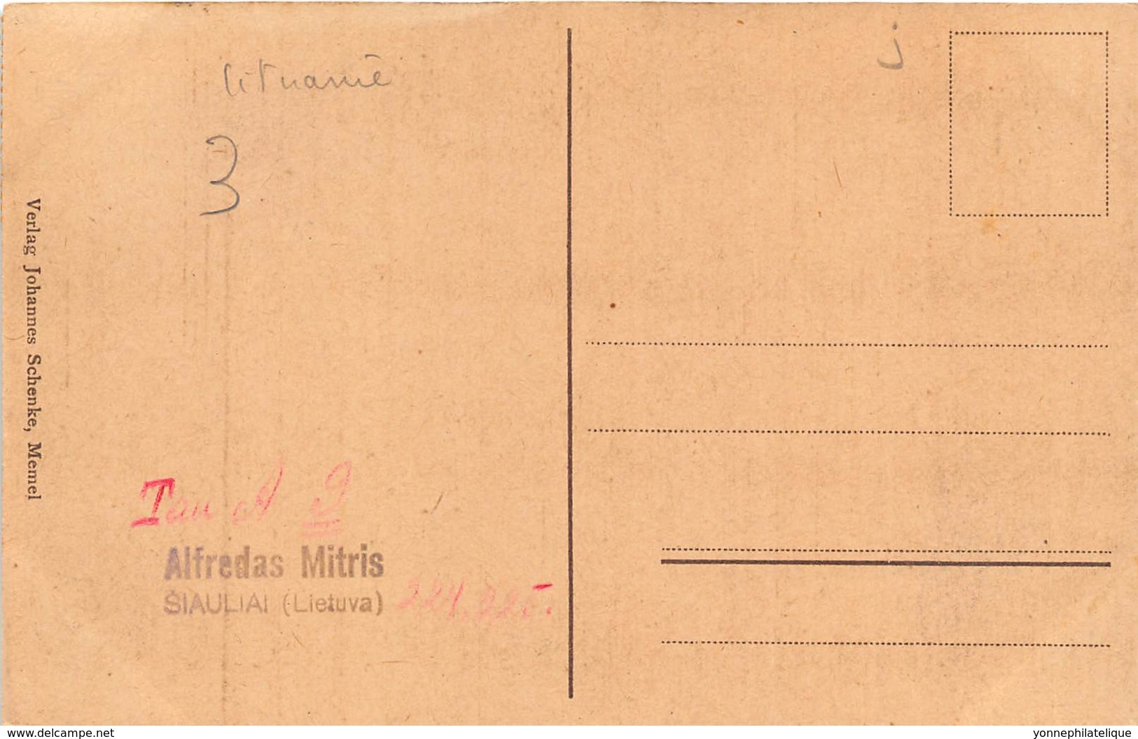Lituanie / 03 - Kurische Fischer Familie - Belle Oblitération - Lituanie