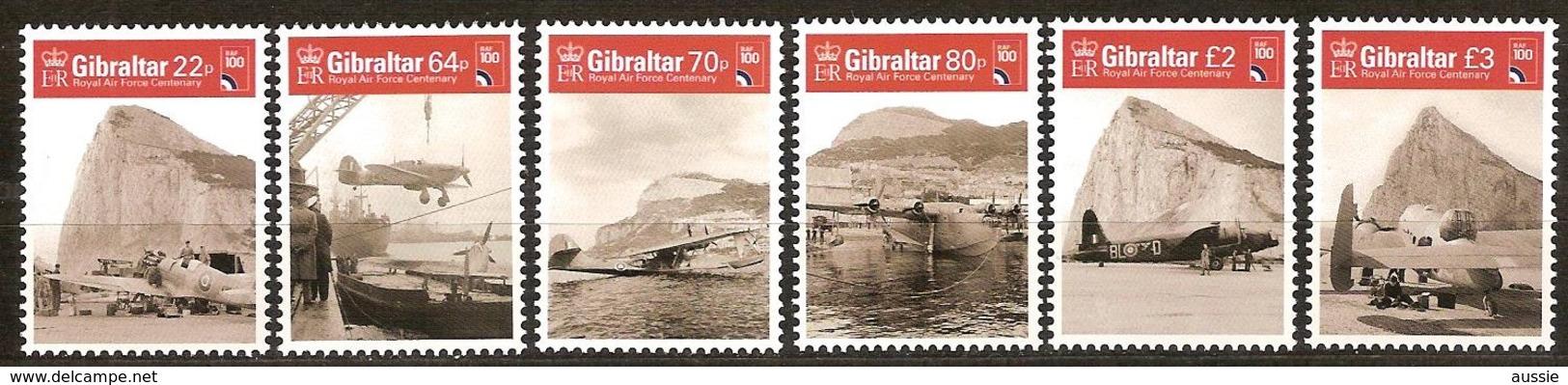 Gibraltar 2018 Micheln° 1858-1863 *** MNH  Royal Air Force Avions Airplanes Vliegtuigen - Gibraltar