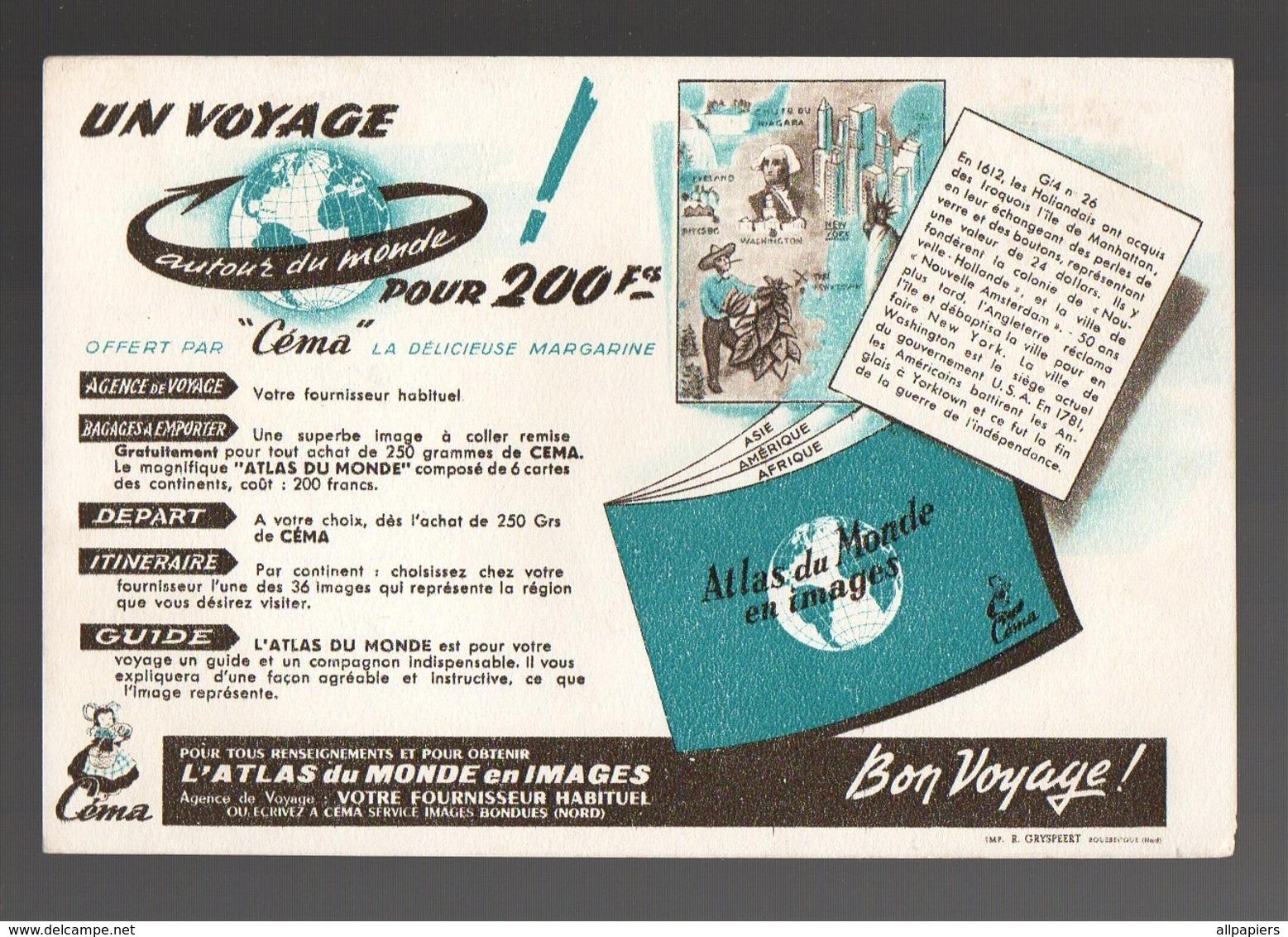 Buvard Un Voyage Autour Du Monde Pour 200 Francs L'Atlas Du Monde En Images - Carte Assorbenti
