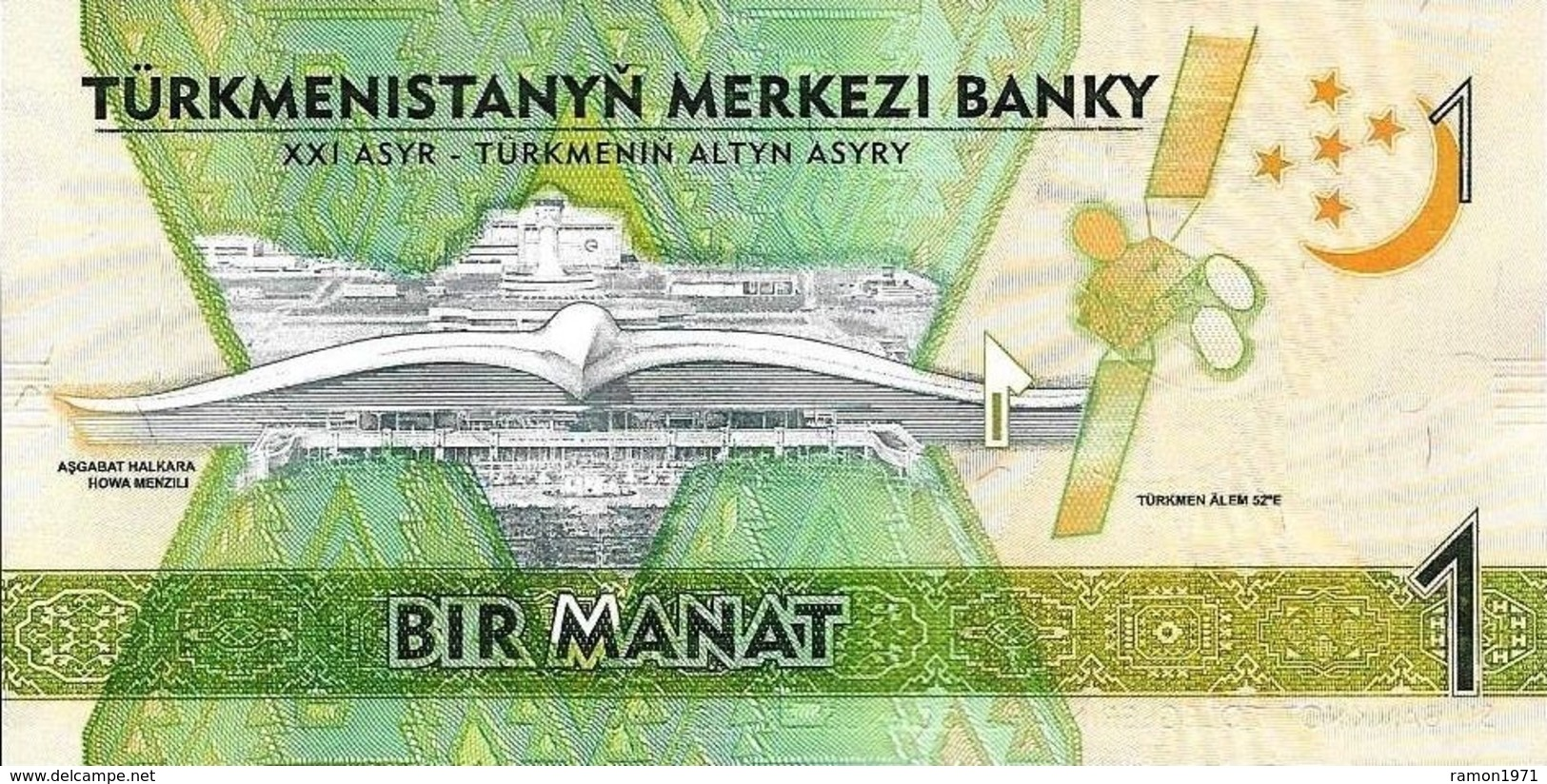 25 Pieces Turkmenistan - 1 Manat 2017 AA UNC Series - Turkmenistan