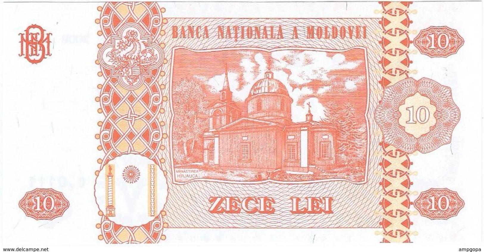Moldavia - Moldova 10 Leu 2009 Pick 10f UNC - Moldova