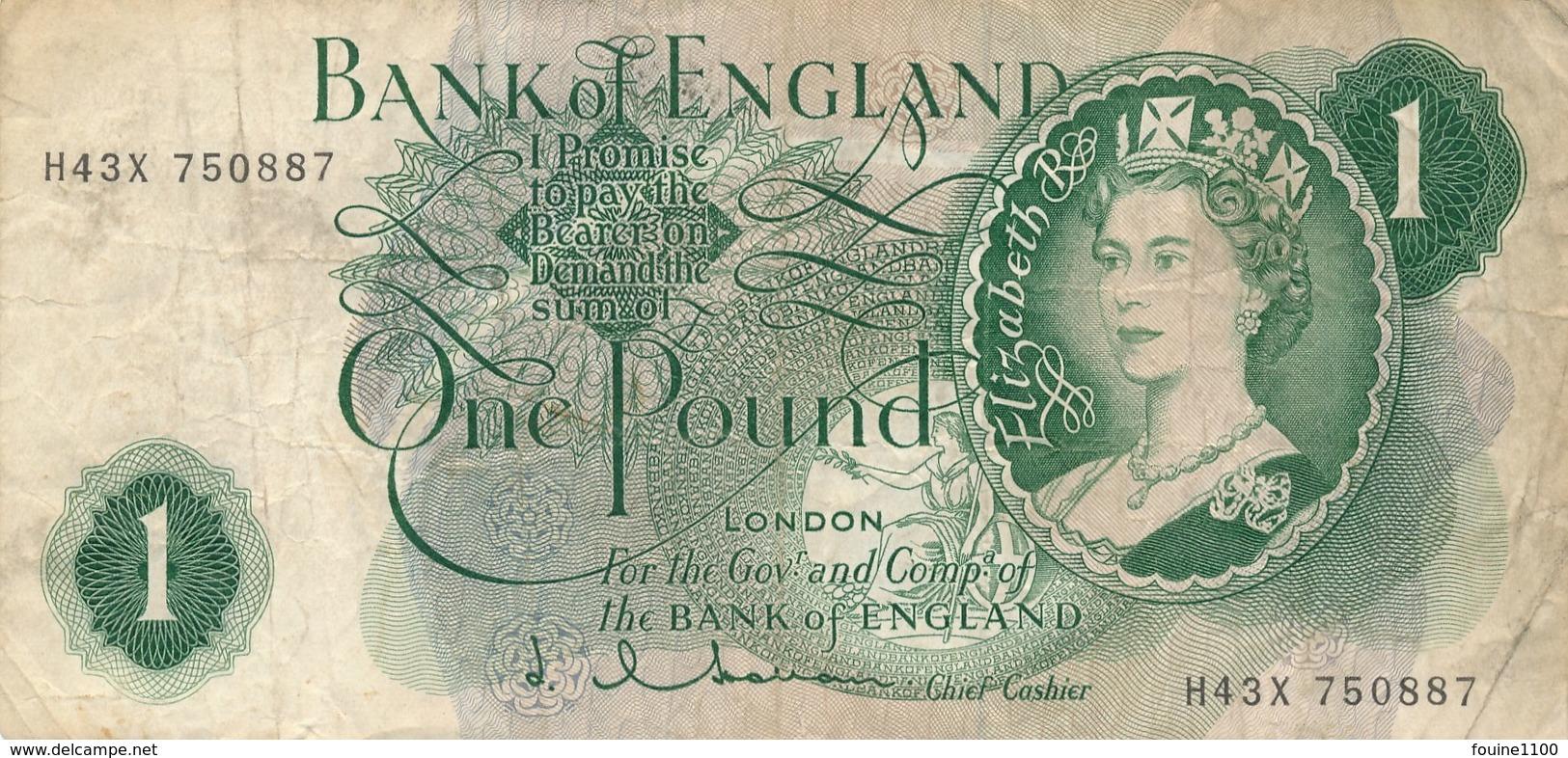 Billet  De Banque  England  1 Pound London - 1 Pound