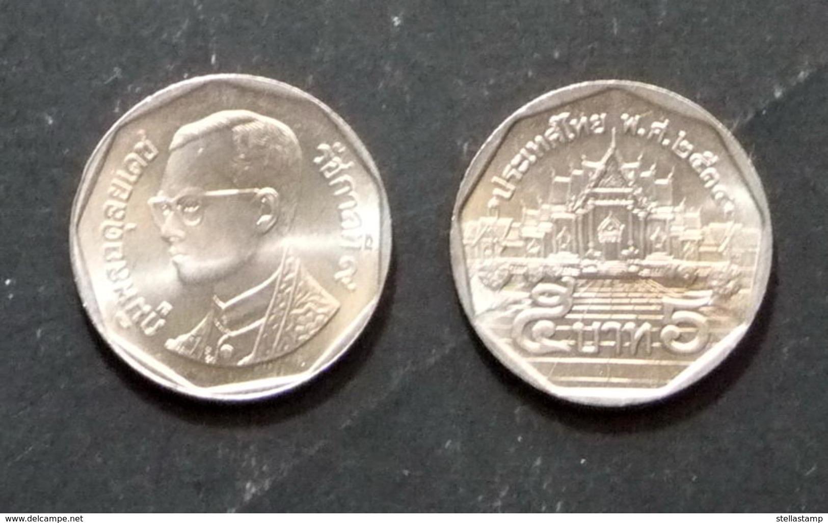 Thailand Coin Circulation 5 Baht Year 1991 UNC - Thaïlande