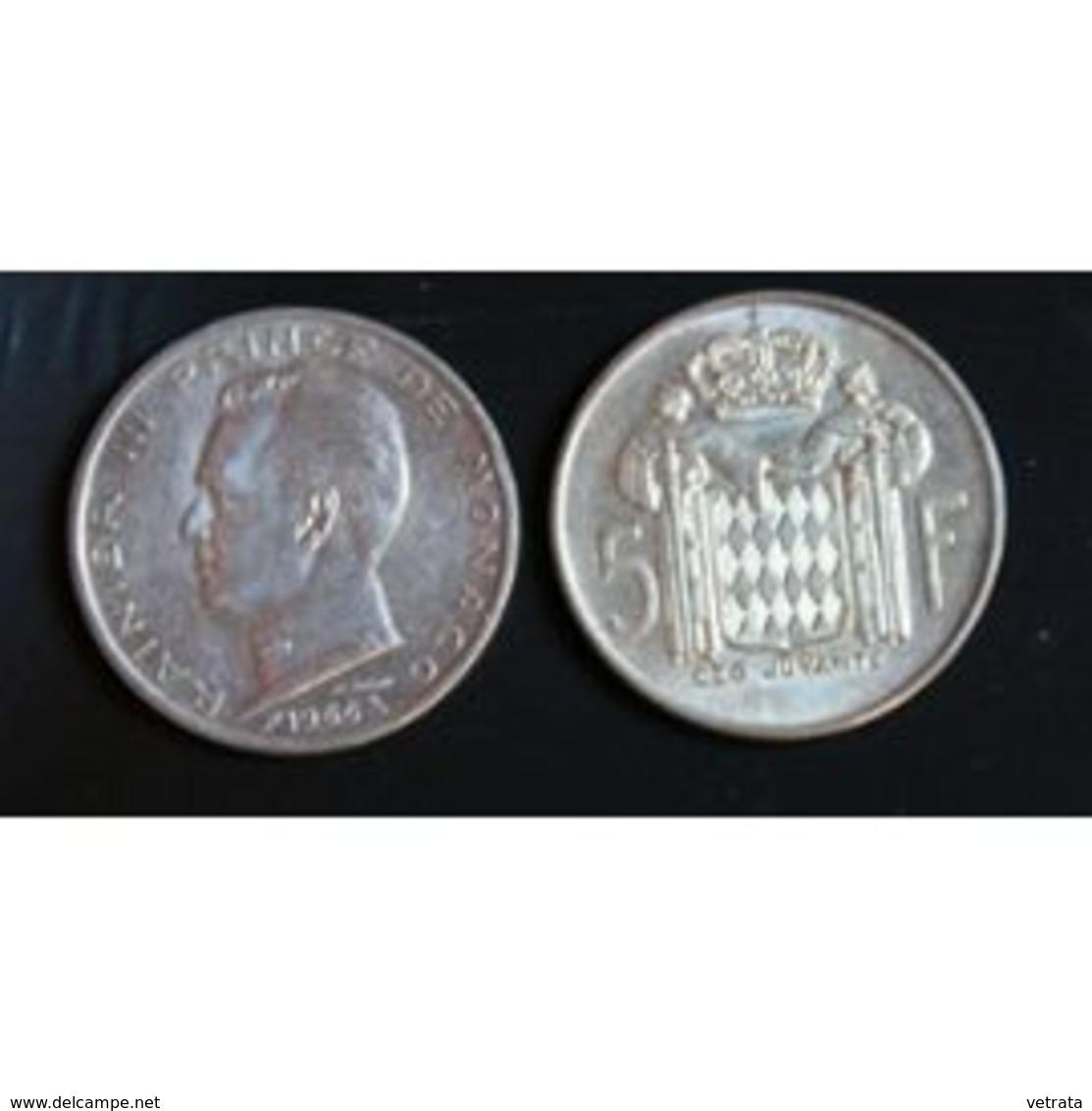 Pièce Monaco, 5 Francs, 1966 - 1960-2001 Nouveaux Francs