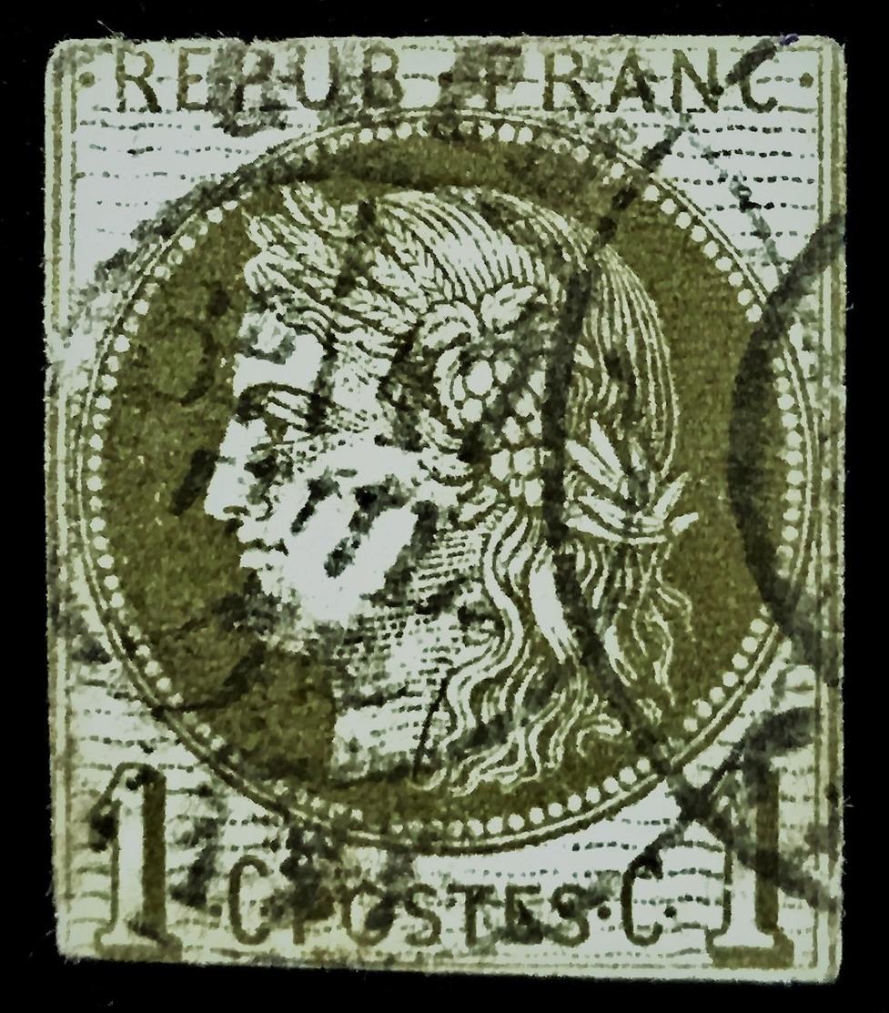 France No.39 - 1C - Report II - COTE 100,00 ++ EUROS, O  !! - 1870 Ausgabe Bordeaux