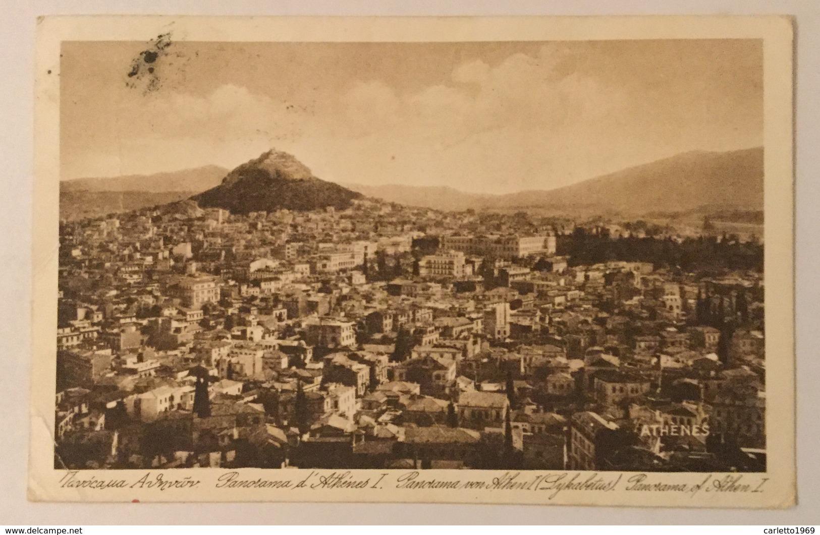 ATHENES PANORAMA  VIAGGIATA FP - Grecia