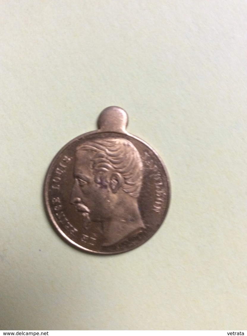 Médaillon : Le Prince Louis Napoléon, 1852 (2cm) - Bijoux & Horlogerie