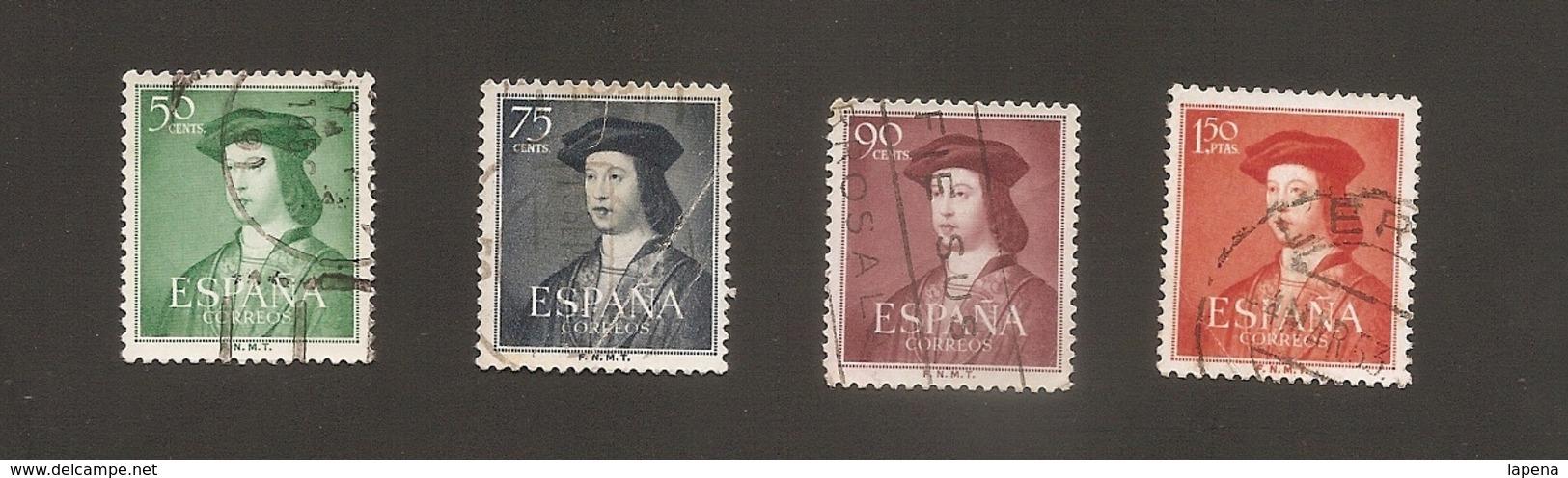 España 1952 Used Yvert 826 Al 829 - 1931-Today: 2nd Rep - ... Juan Carlos I
