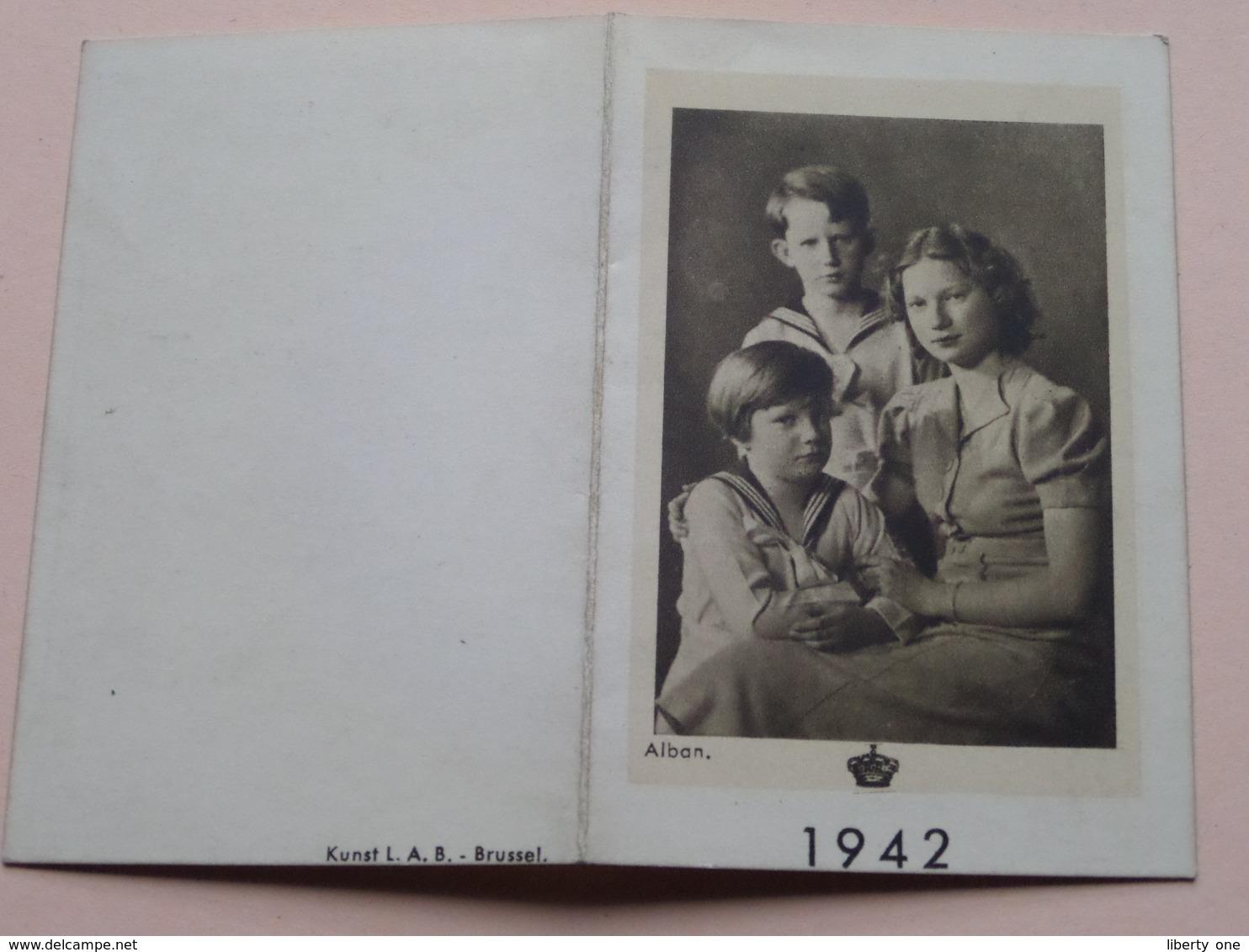 1942 > Koninklijke Familie ( Zie Foto's Voor Detail > Alban / Kunst L.A.B. Brussel ) ! - Calendarios