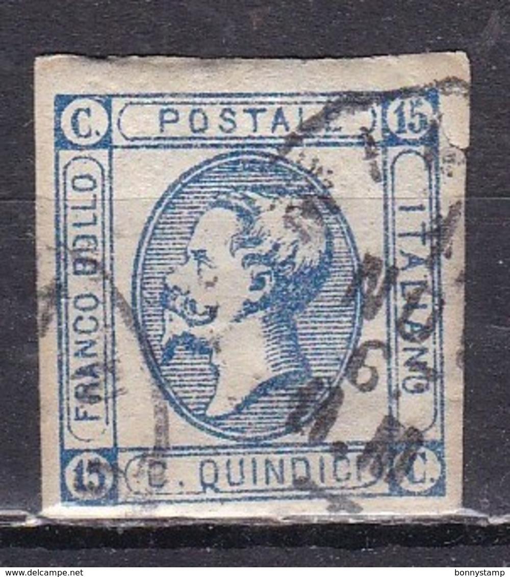 Regno D'Italia, 1863 - 15 Cent Vittorio Emanuele II° - 2° Tipo - Nr.13 Usato° - 1861-78 Vittorio Emanuele II
