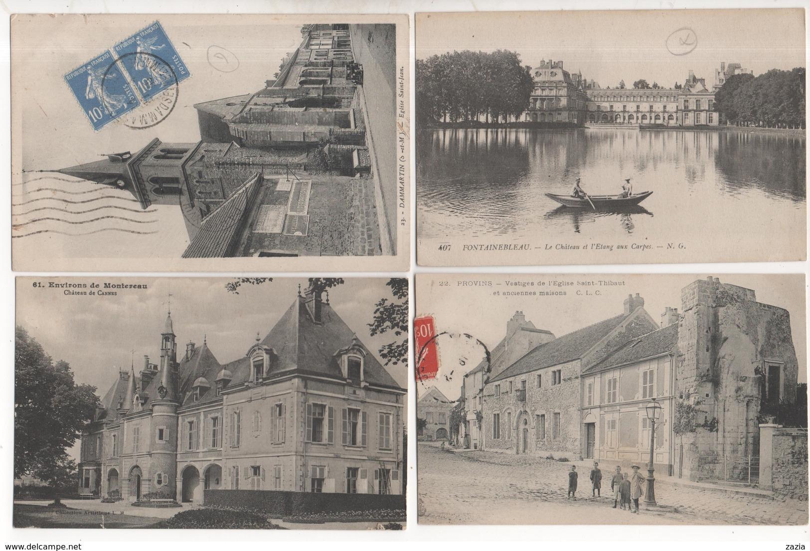 LD77 / Lot D'environ 800 Cpa,cpsm Et Cpm De SEINE ET MARNE ( Voir Déscriptif) - Cartes Postales