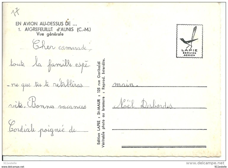 17  AIGREFEUILLE    D,AUNIS  -  Vue Générale  Aérienne - France