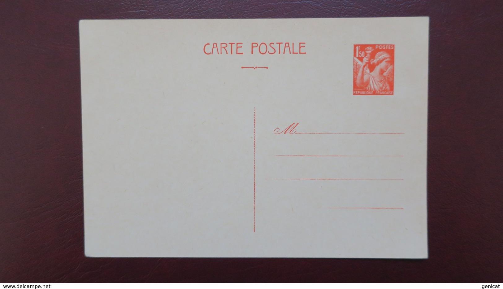 Entier Postal Iris Carte 1,50 Fr Orange Neuf TB - Entiers Postaux