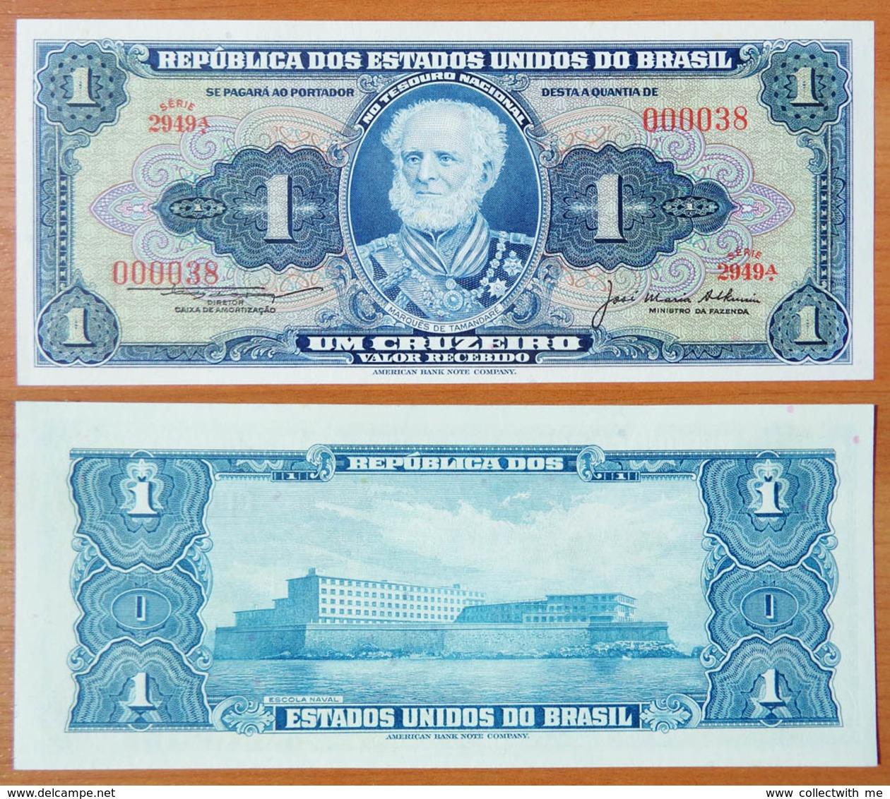 Brazil 1 Cruzeiro 1976 UNC S/n 000038 - Brésil