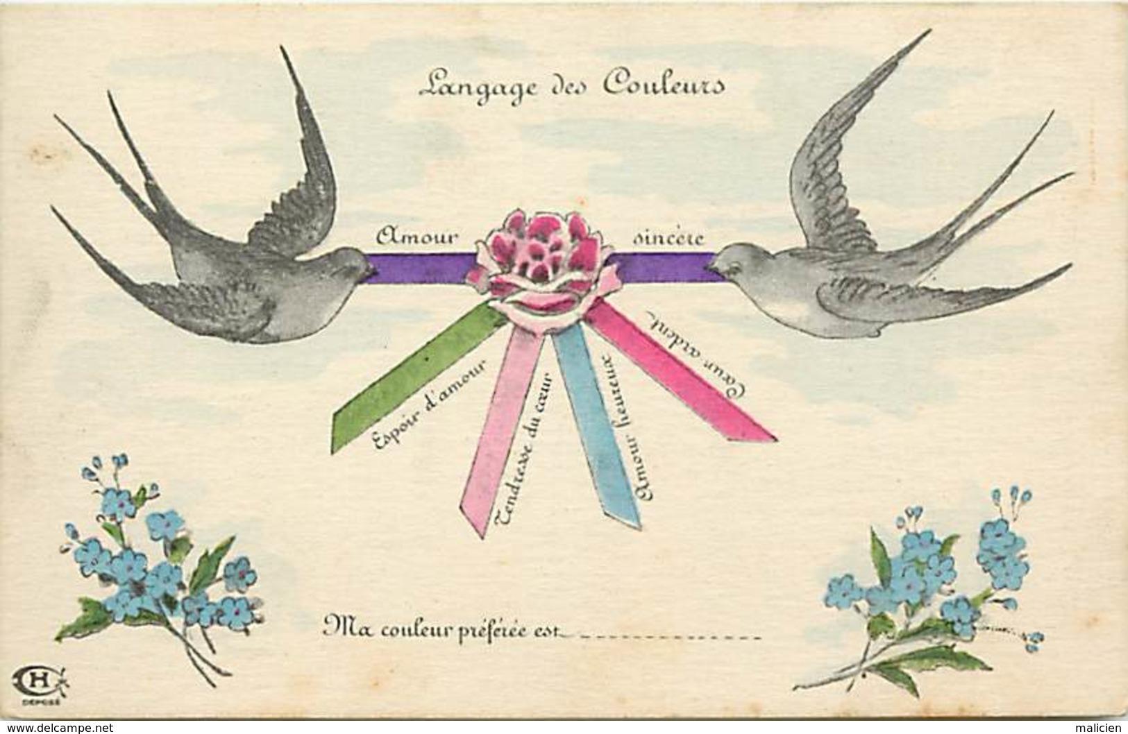 - Ref-B147 -  Langages - Langage Des Couleurs - Carte Bon Etat - - Cartes Postales