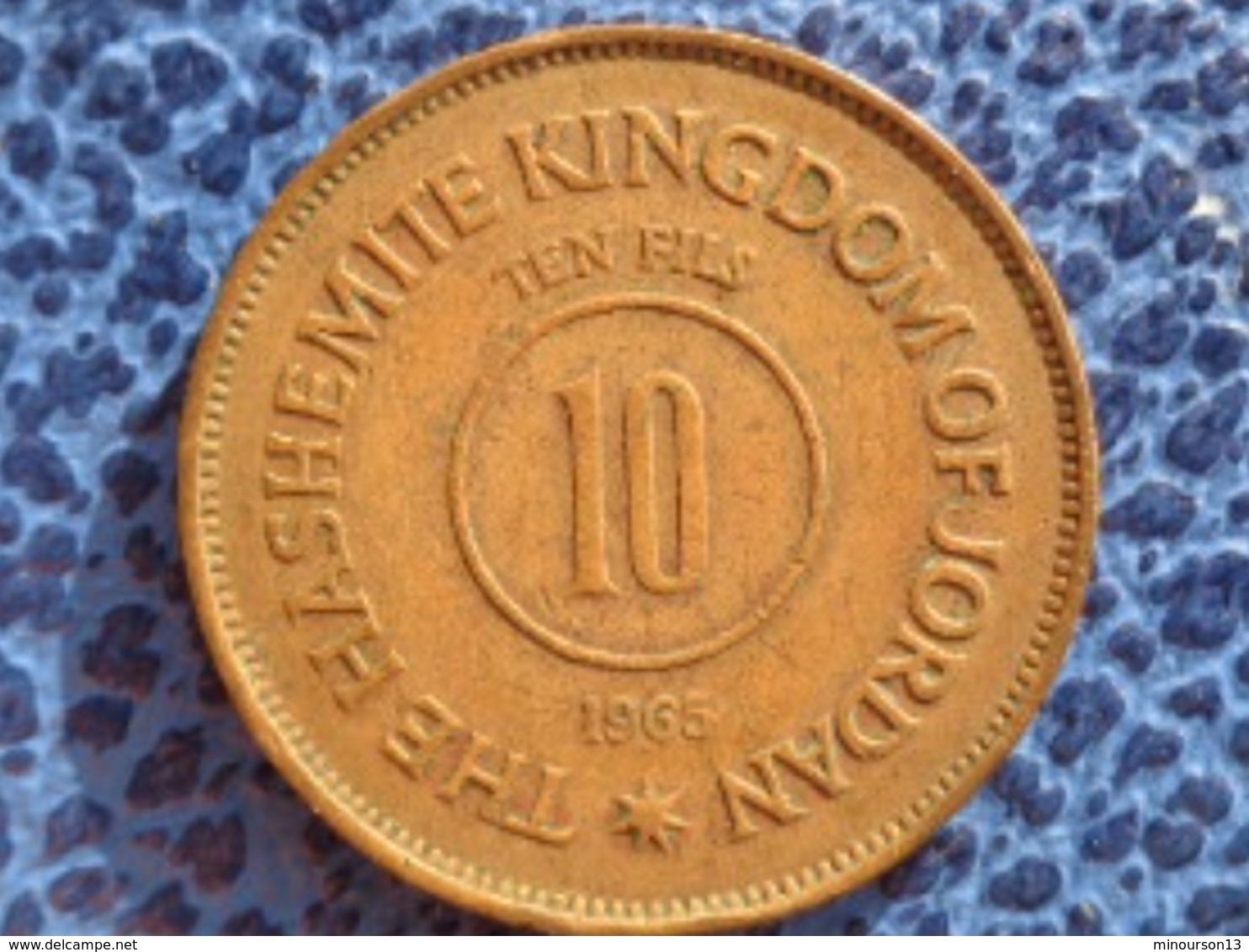 THE HASHEMITE KINGDOM OF JORDAN : 10 FILS 1965 - Jordanie