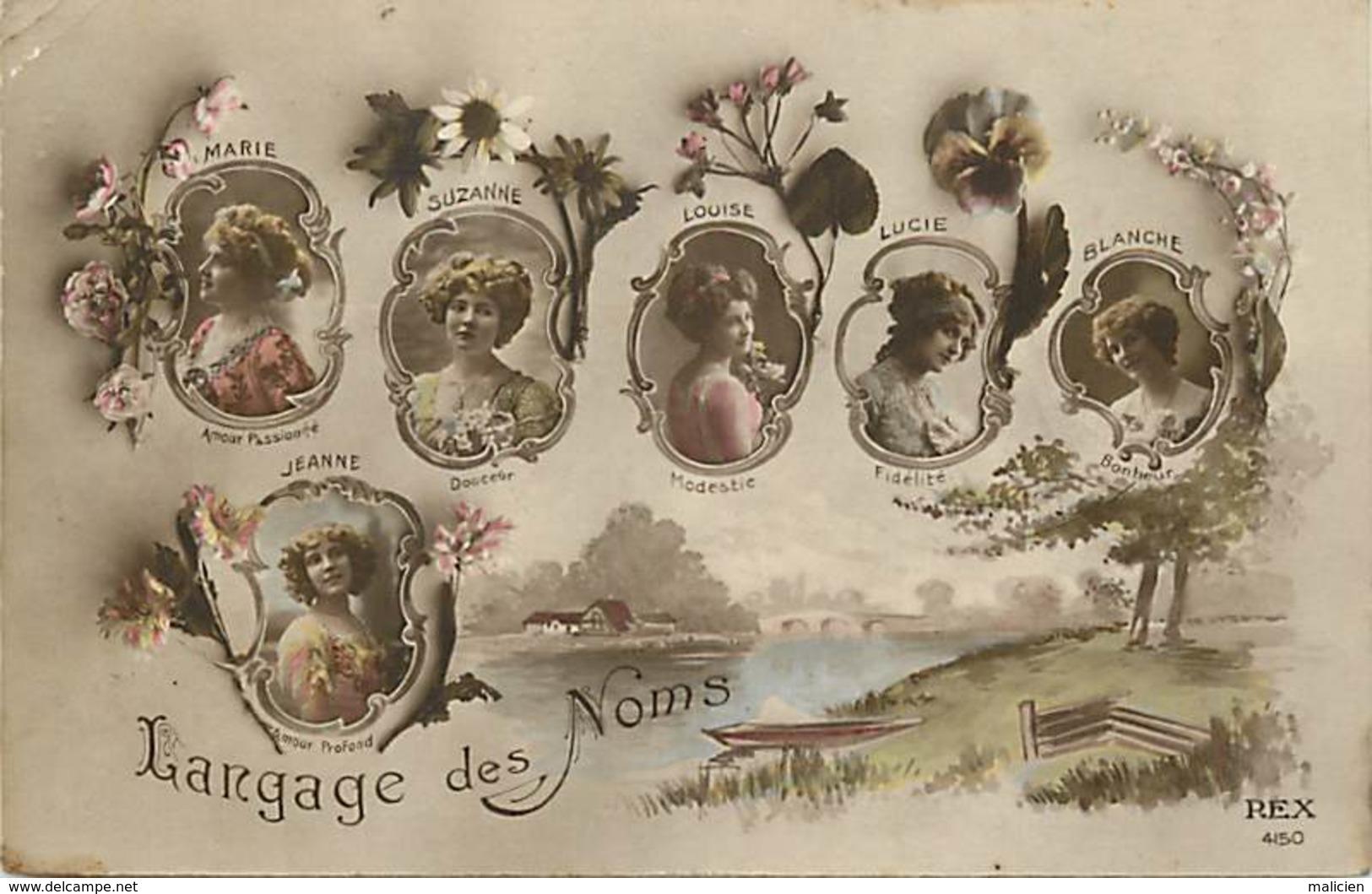 - Ref-B145 -  Langages - Langage Des Noms - Prenoms : Blanche - Lucie - Suzanne - Louise - Jeanne - Marie - - Autres