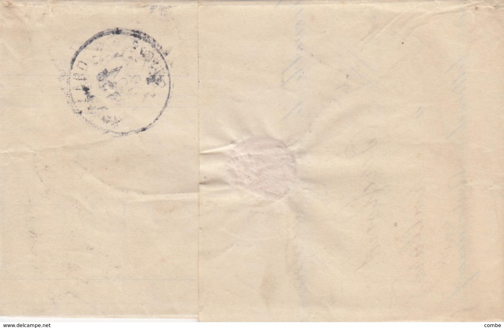 LETTRE. COVER. FRANCE MOUCHON 15c X3 GRENOBLE TO AVILLARD SAVOIE.  /    3 - Briefmarken