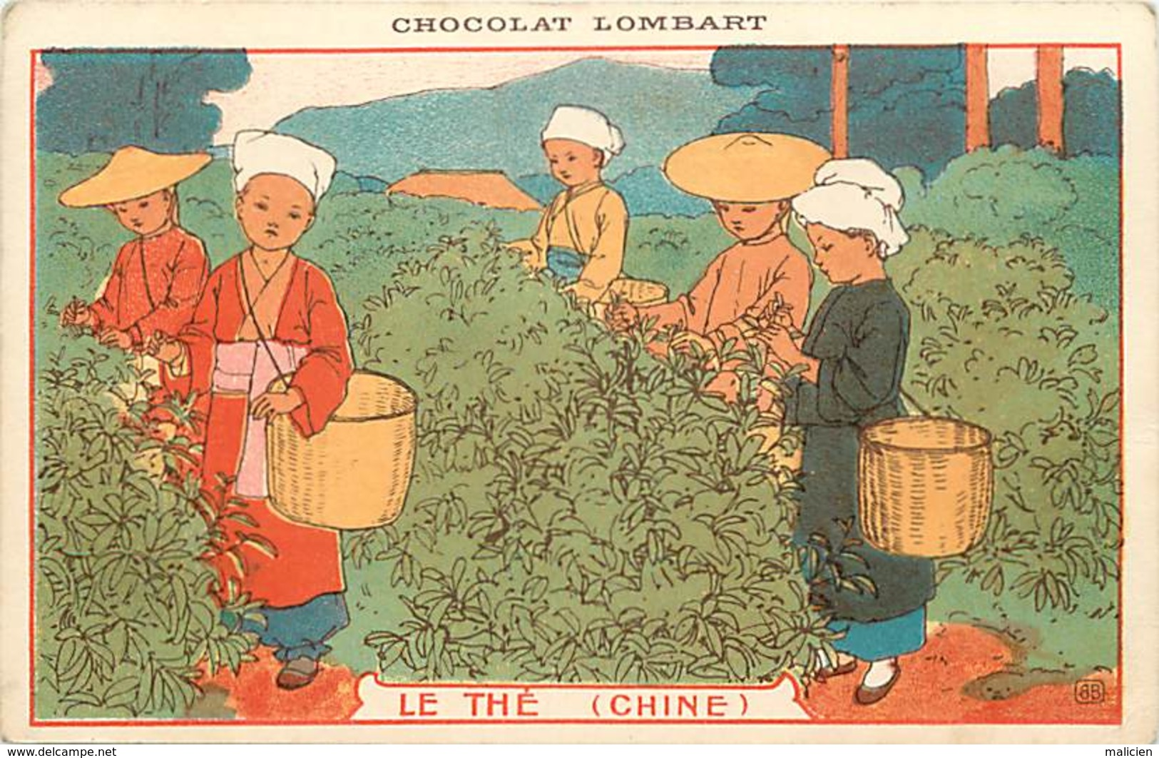 -ref-B125- Chine - China - Le The - Tea - Publicite Chocolat Lombart - Paris - - Chine