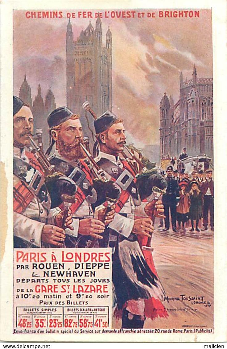 -ref-B116- Militaria - Uniformes - Uniforme - Illustrateur Maurice Toussaint 1907 - Illustrateurs - Highlanders - - Uniformes