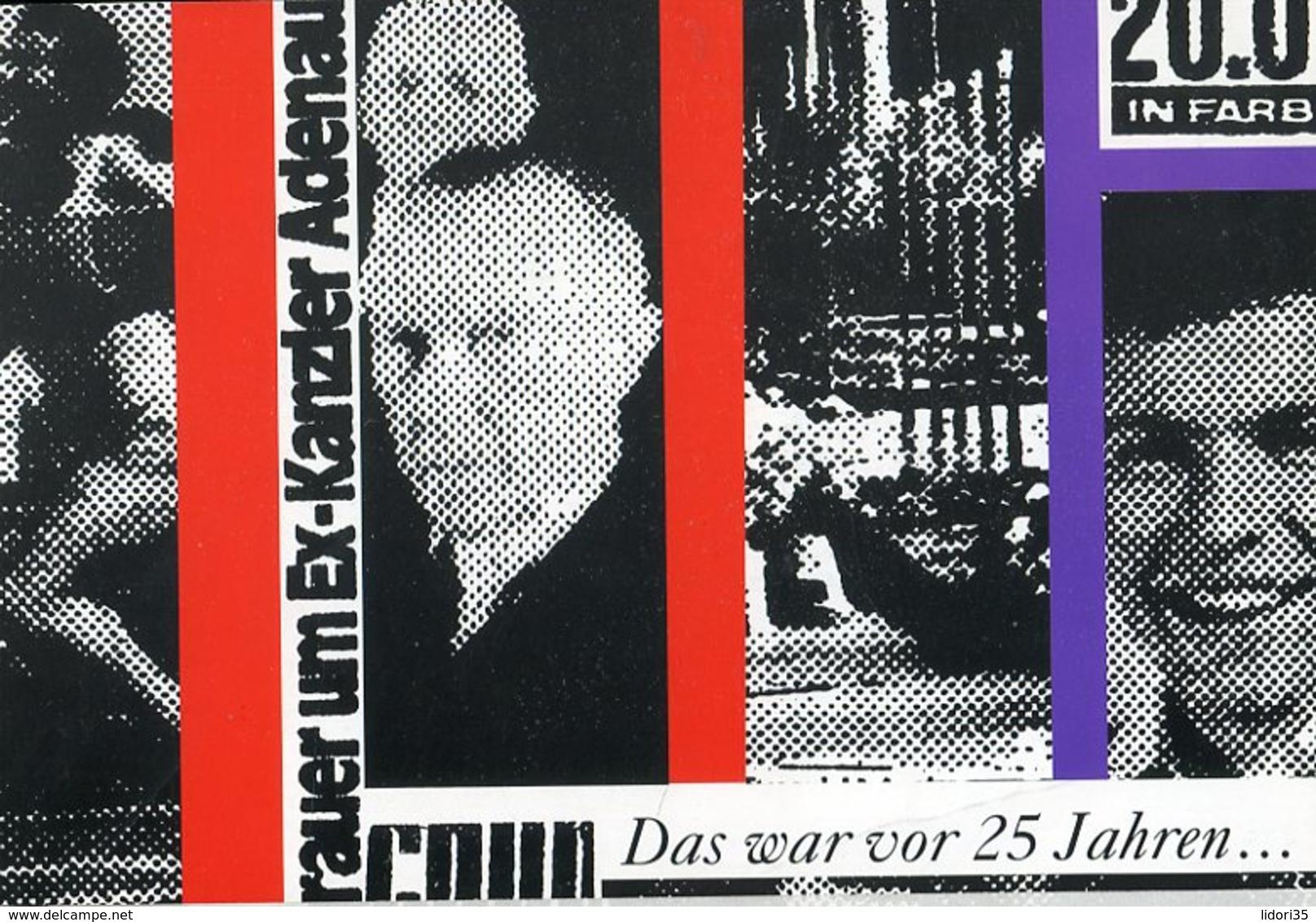 """Bundesrepublik Deutschland / 1992 / Folder """"25. Todestag Konrad Adenauer"""" (4/505-20) - BRD"""