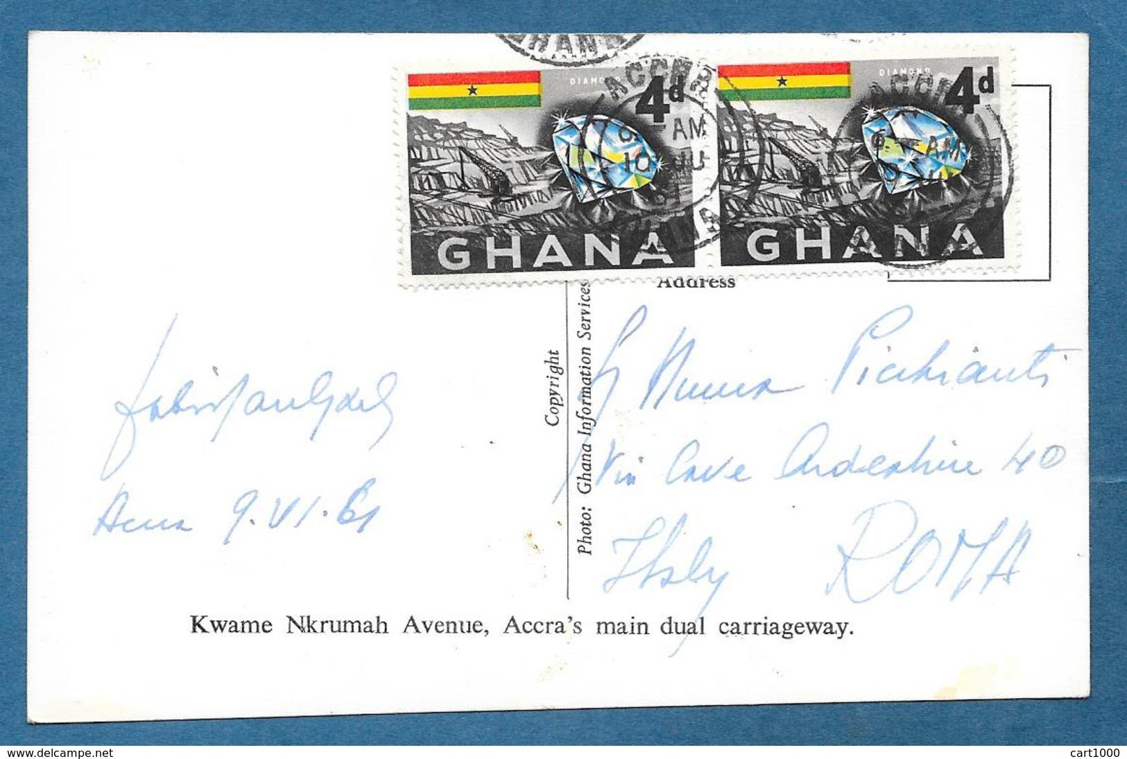 GHANA KWAME NKRUMAH AVENUE ACCRA'S MAIN DUAL CARRIAGEWAY 1961 - Ghana - Gold Coast