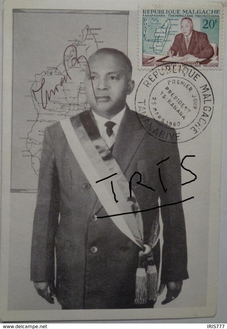 CARTE REPUBLIQUE MALGACHE - PRESIDENT  PHILIBERT TSIRANANA - Madagascar (1960-...)