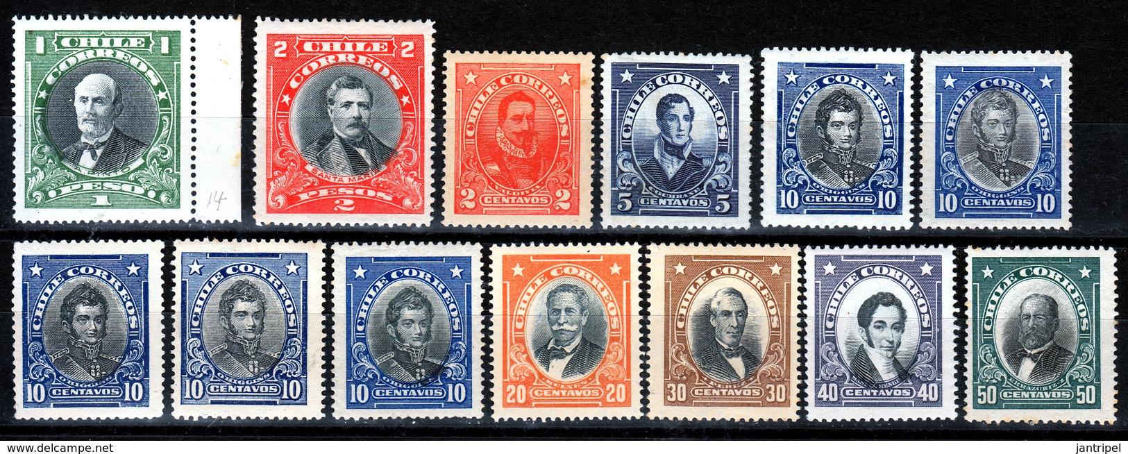 CHILI  SELECTION  1925/50  MH/MNH - Chile