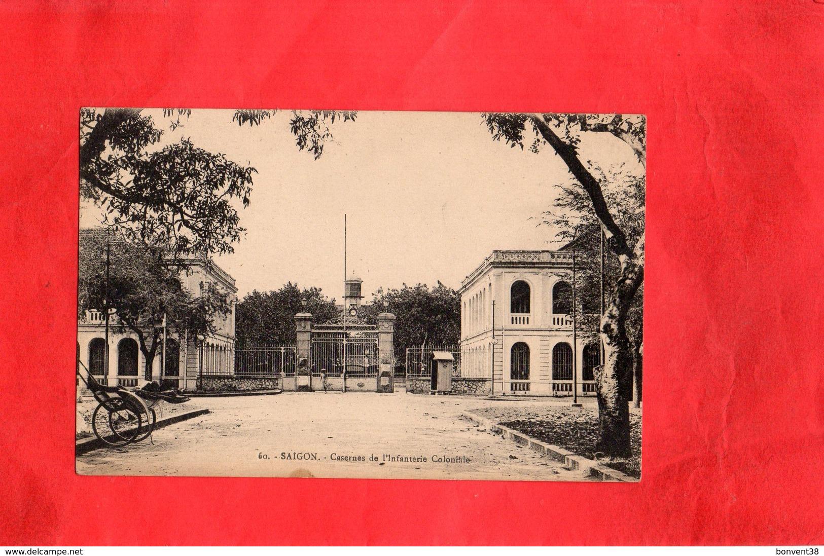 F0801 -  SAIGON - Casernes De L'Infanterie Coloniale - Cartes Postales
