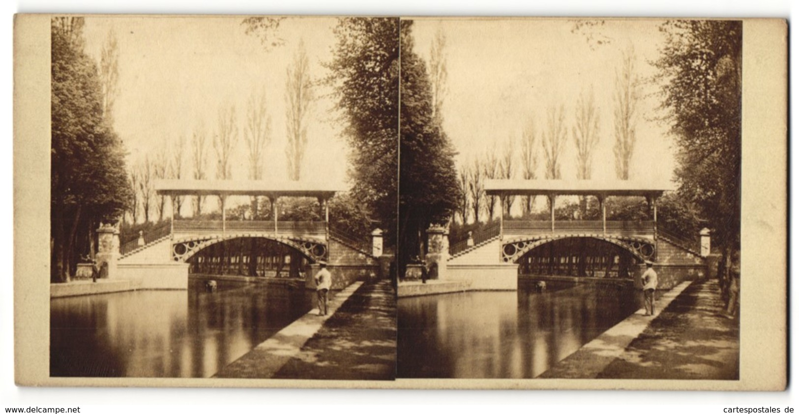 Vue Stéréoscopique-Photo  Vue De Lille, Pont Napoléon, Pont - Photos Stéréoscopiques
