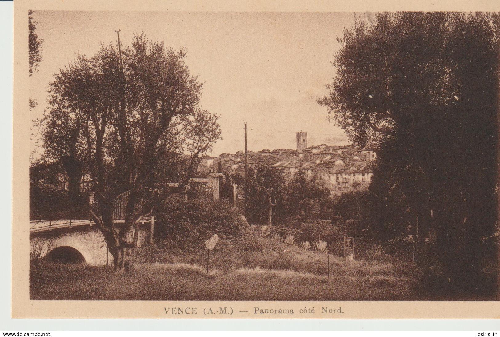 CPA - VENCE - PANORAMA - COTE NORD - Vence