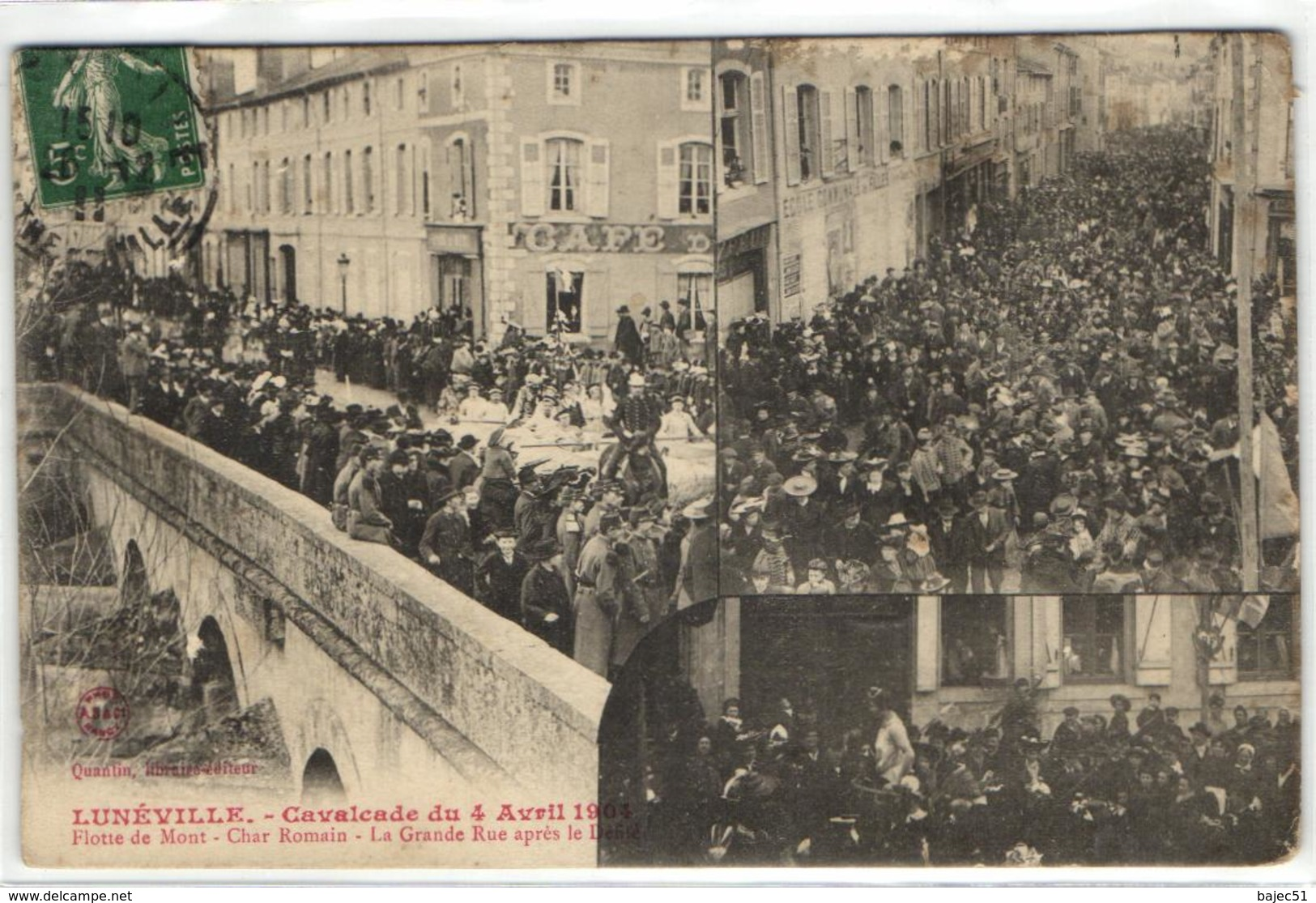 1 Cpa Lunéville - Cavalcade Du 4 Avril 1904 - Flotte De Mont - Char Romain - Luneville