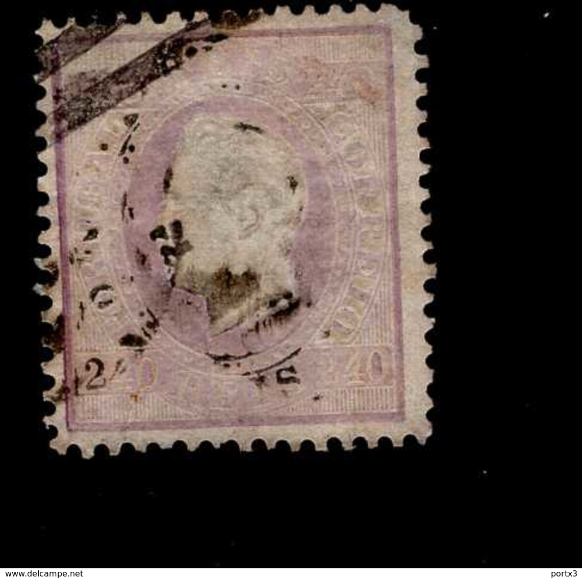 Portugal 44 X B König Luis I  Used  Gestempelt (3) - 1853 : D.Maria