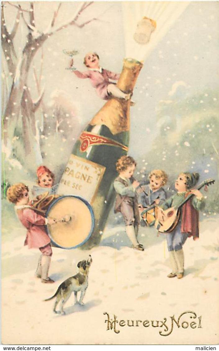 -ref-B95- Illustrateurs - Illustrateur - Enfants - Enfant - Champagne - Vins -  Alcool -  Instruments De Musique - - Illustrateurs & Photographes