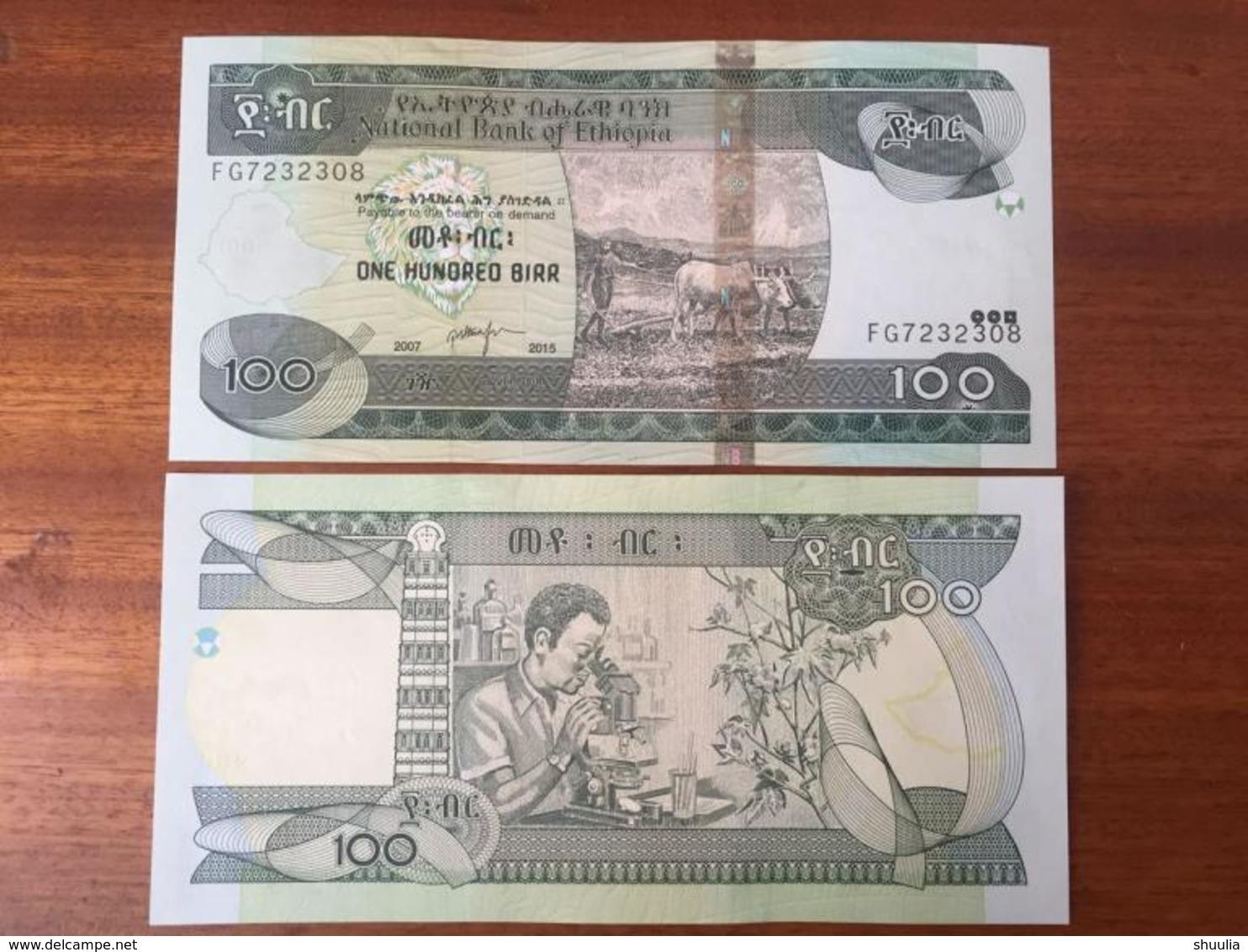 Ethiopia 100 Birr 2015 Pick 52 UNC - Ethiopie